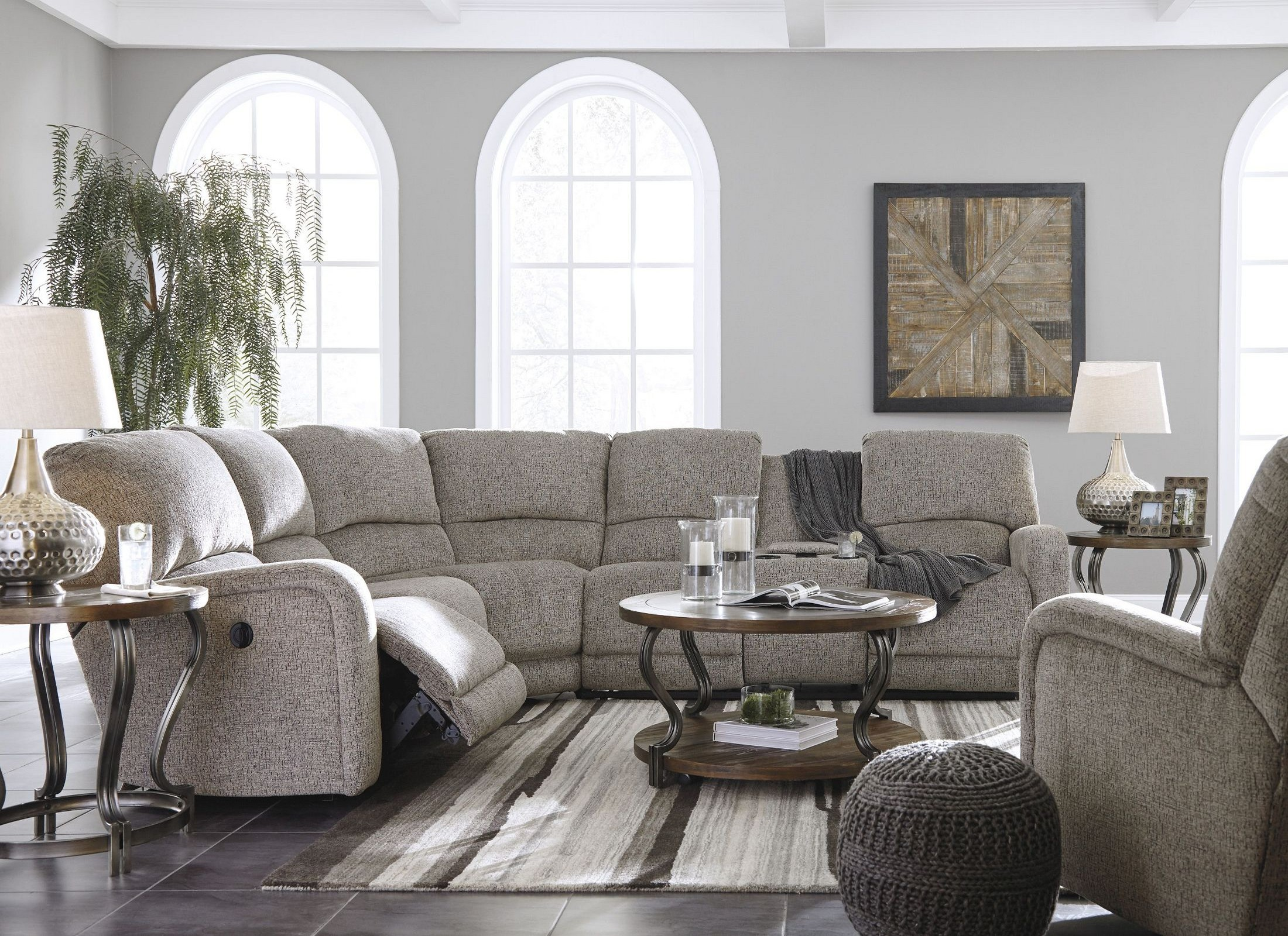 Pittsfield Fossil LAF Power Reclining Sectional from Ashley