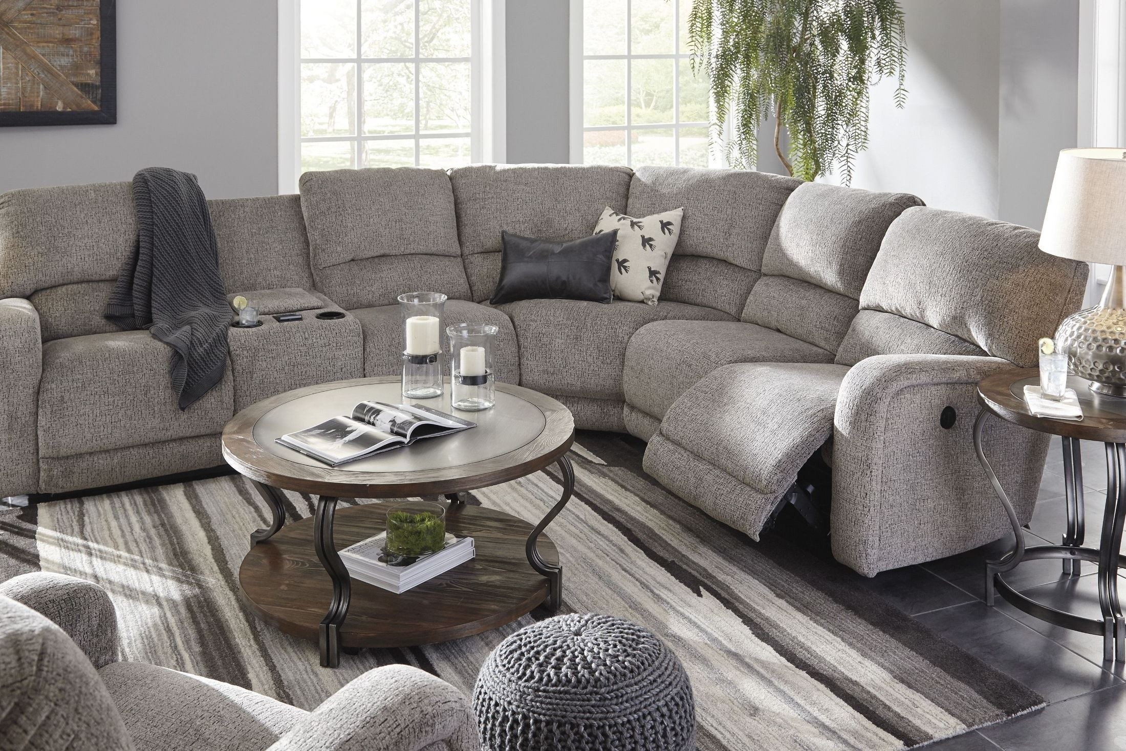 Pittsfield Fossil RAF Power Reclining Sectional