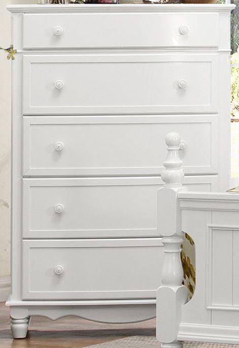 Homelegance Clementine White Postal Bedroom Set