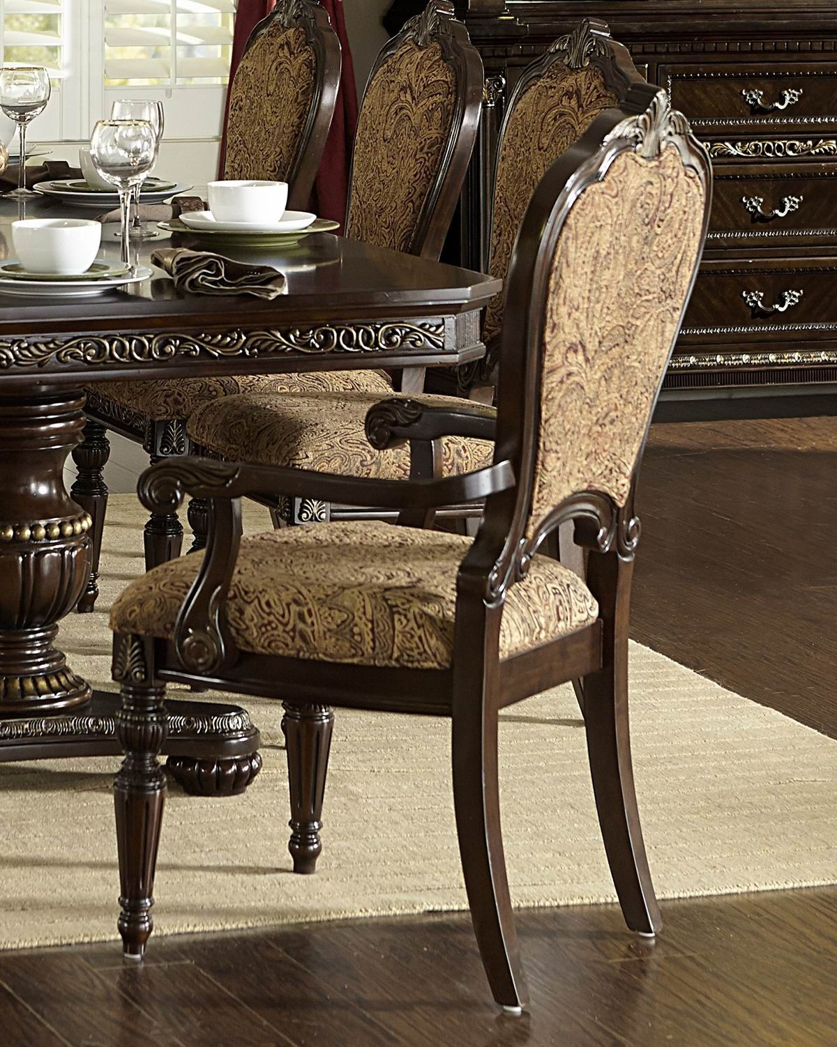 Russian Hill Warm Cherry Arm Chair From Homelegance 1808a Coleman Furniture