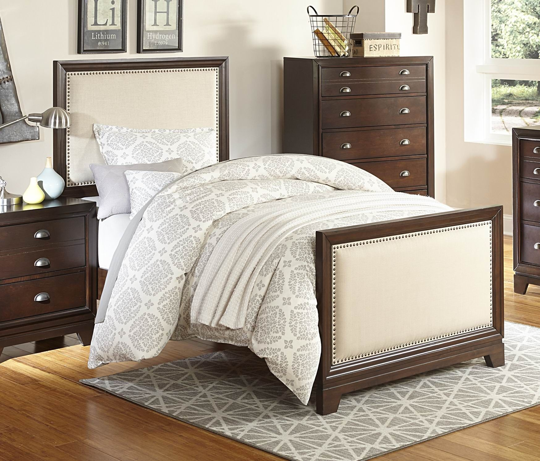 Bernal Heights Warm Cherry Full Panel Bed From Homelegance