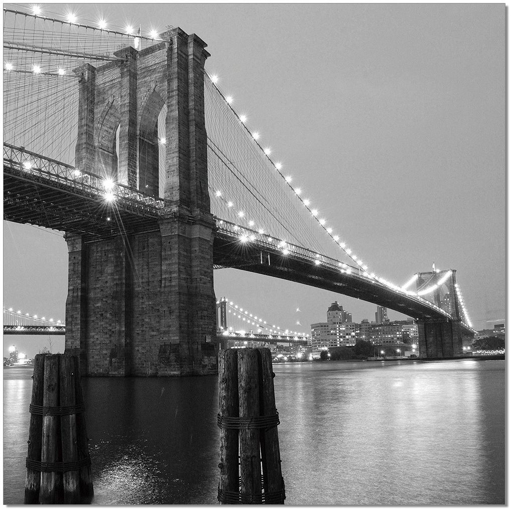Black and White Brooklyn Bridge II Wall Art from JNM ...