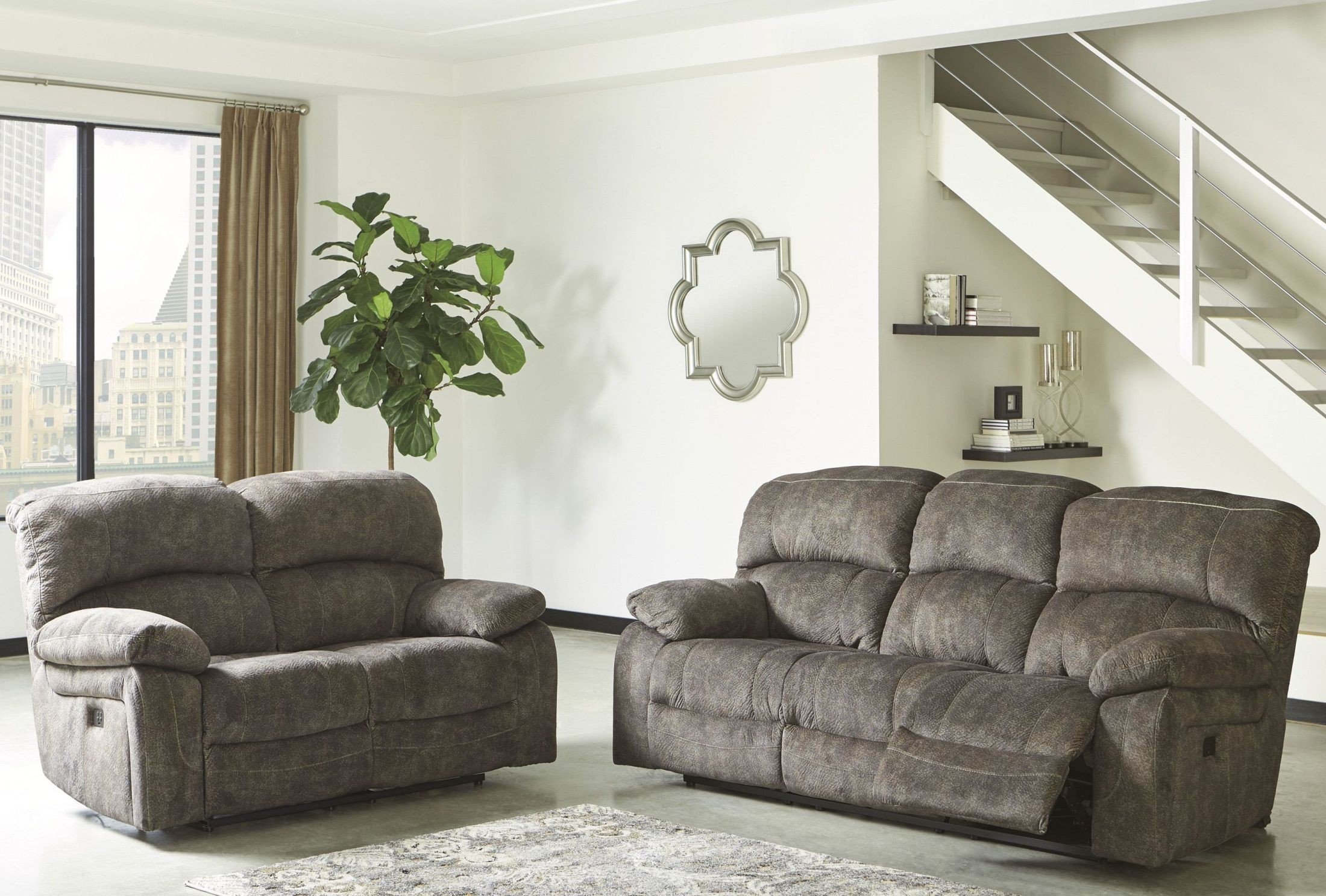 Cannelton Tri-Tone Gray Power Reclining Living Room Set from Ashley ...
