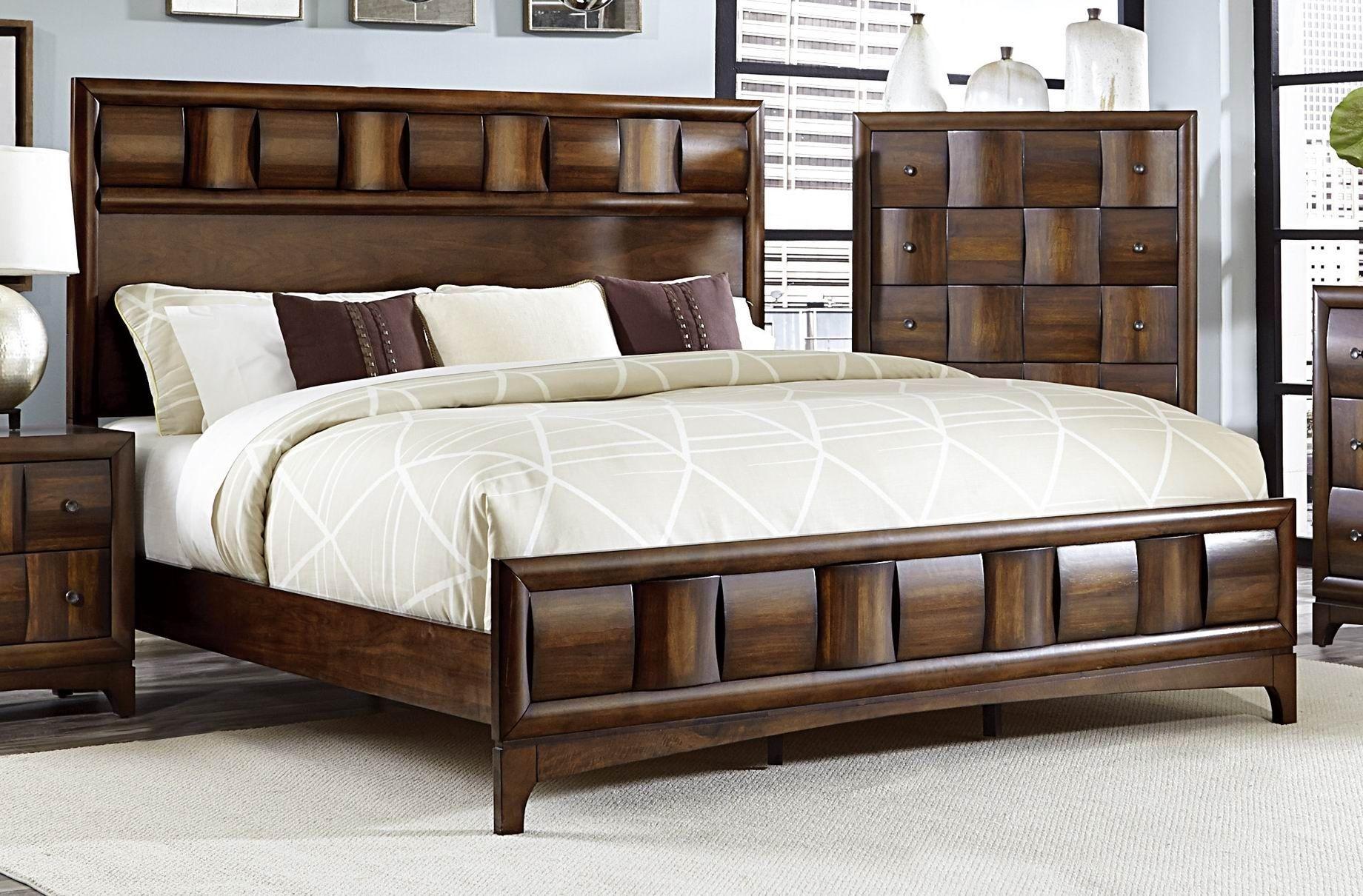 Porter Warm Walnut Cal. King Panel Bed from Homelegance ...