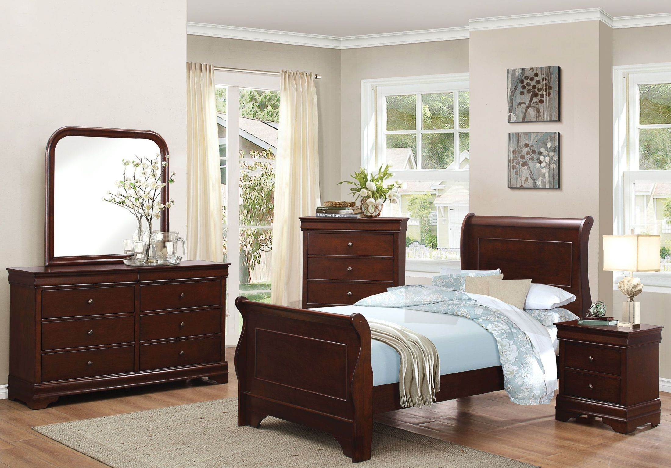 Abbeville Brown Youth Panel Bedroom Set