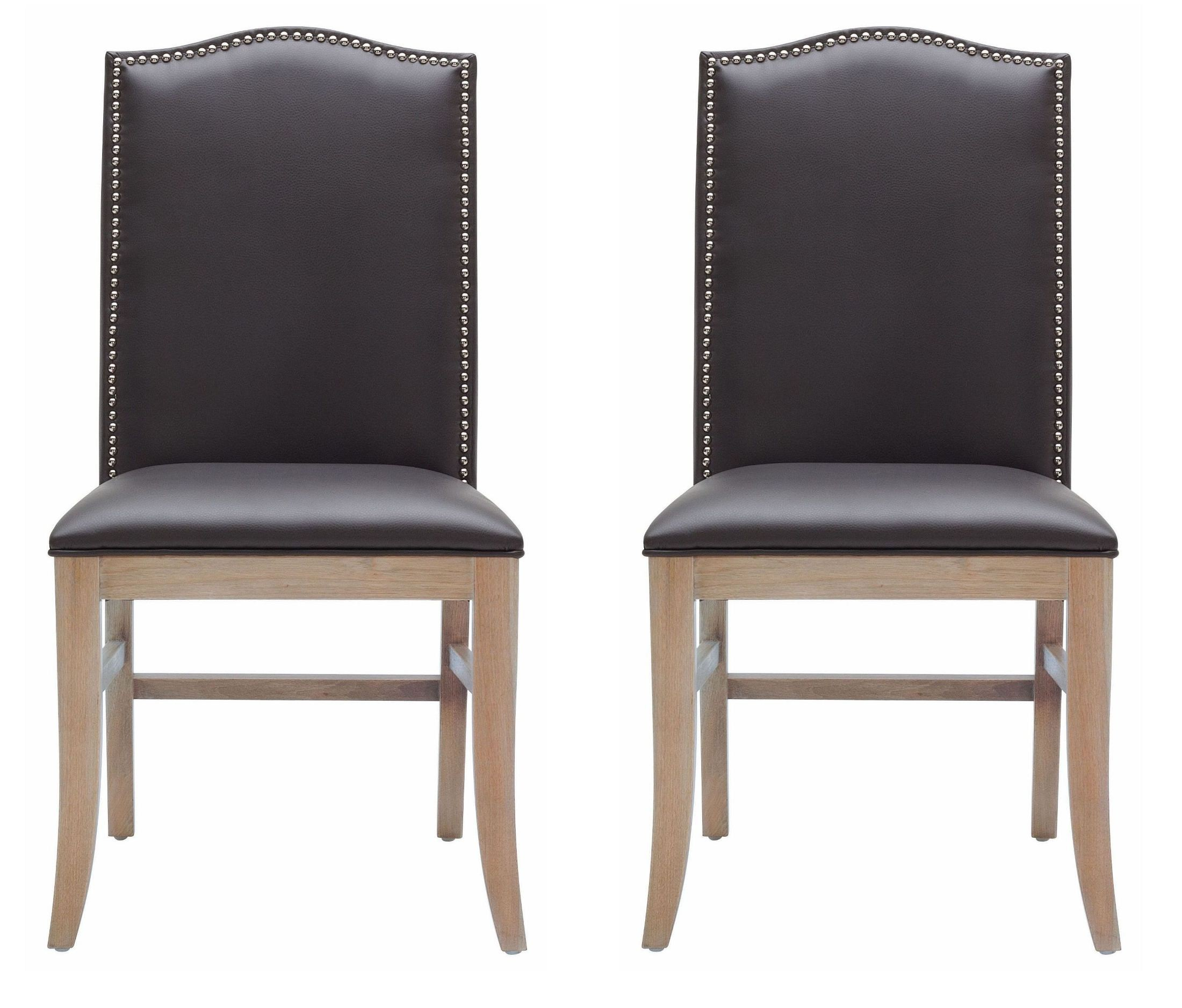 maison gray leather dining chair set of 2 from sunpan 18608 rl coleman furniture. Black Bedroom Furniture Sets. Home Design Ideas