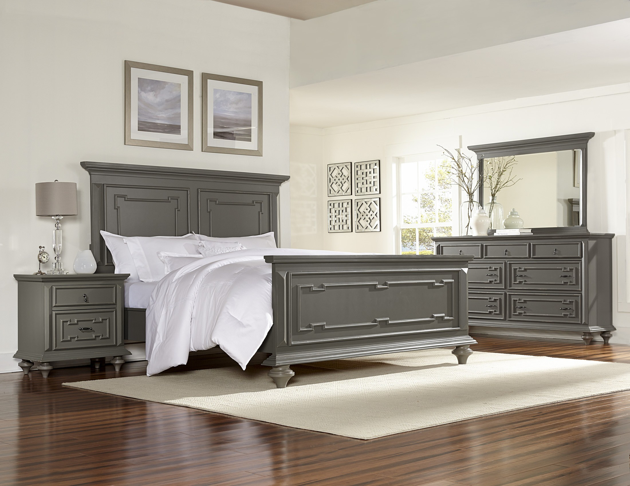Marceline Grey Panel Bedroom Set From Homelegance (1866 1) | Coleman  Furniture