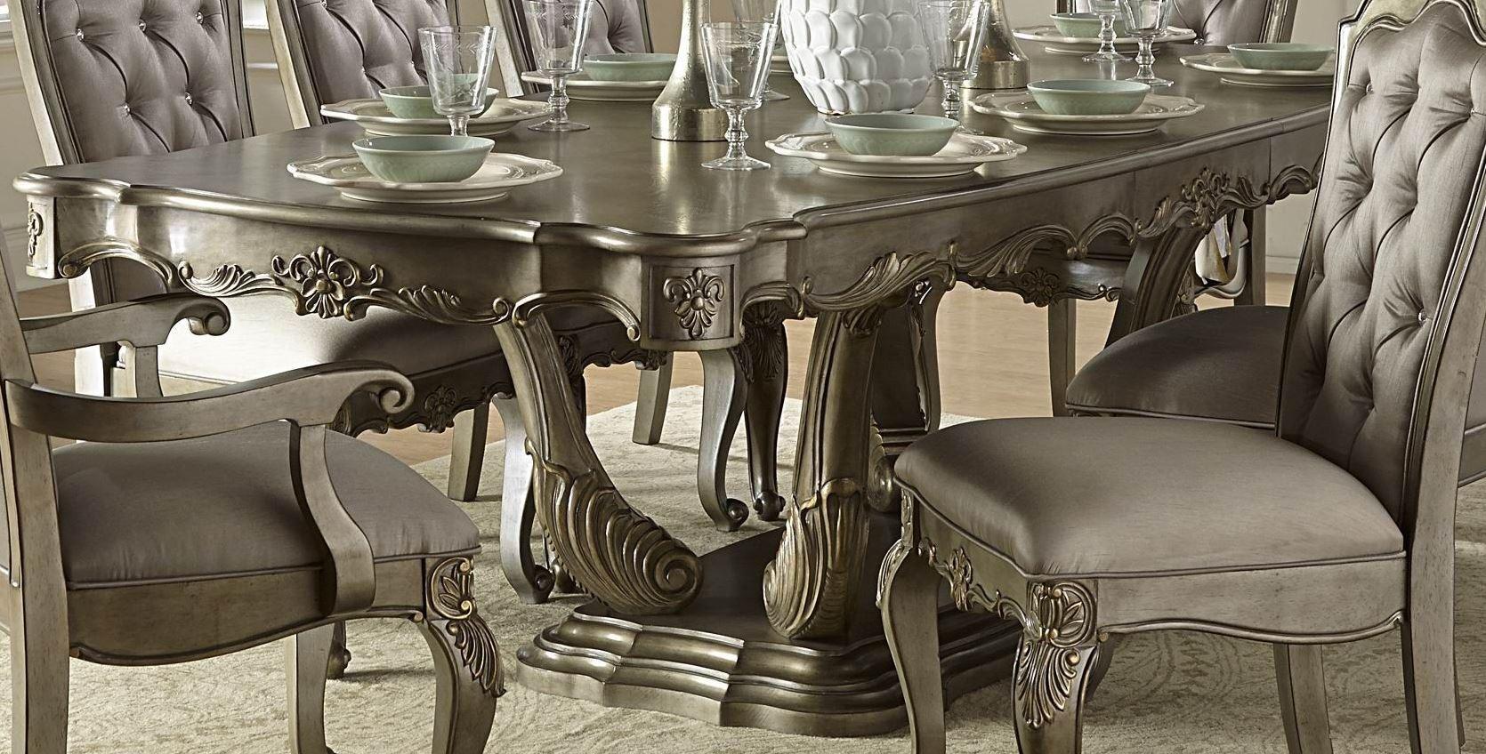 Florentina Gold Extendable Dining Table Florentina Gold