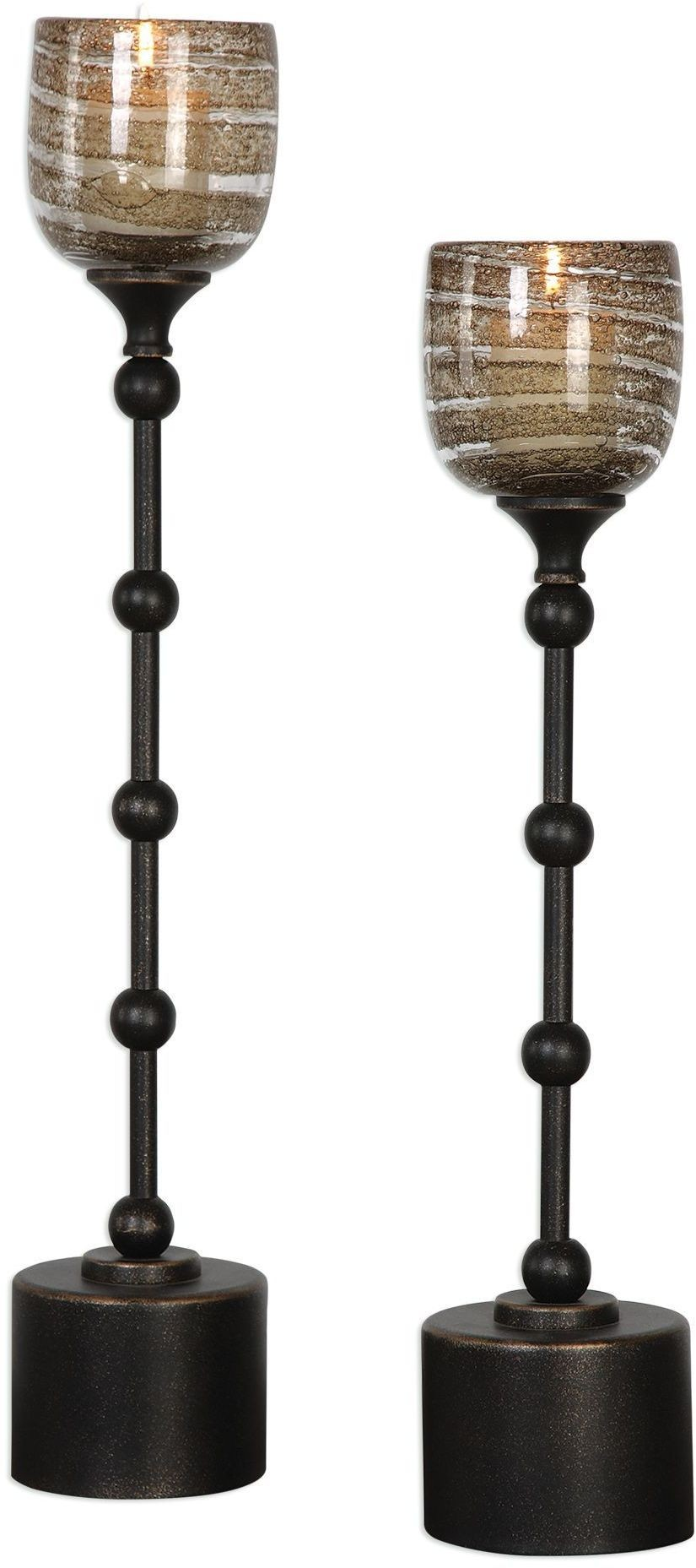 Oil Rubbed Bronze Chairs ~ Lula oil rubbed bronze candleholders set of from