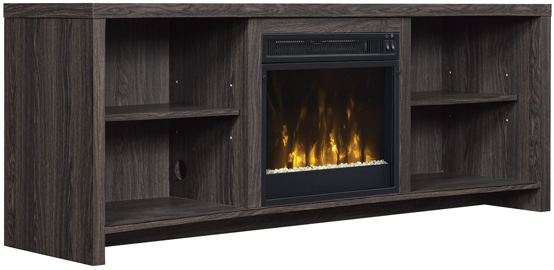 ClassicFlame Black Walnut Shelter Cove TV Stand From Twin Star  International | Coleman Furniture