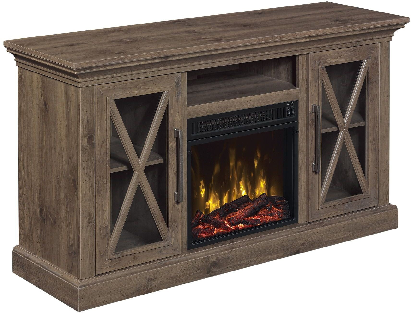 Classicflame Spanish Gray Cottage Grove Tv Stand From Twin Star International Coleman Furniture
