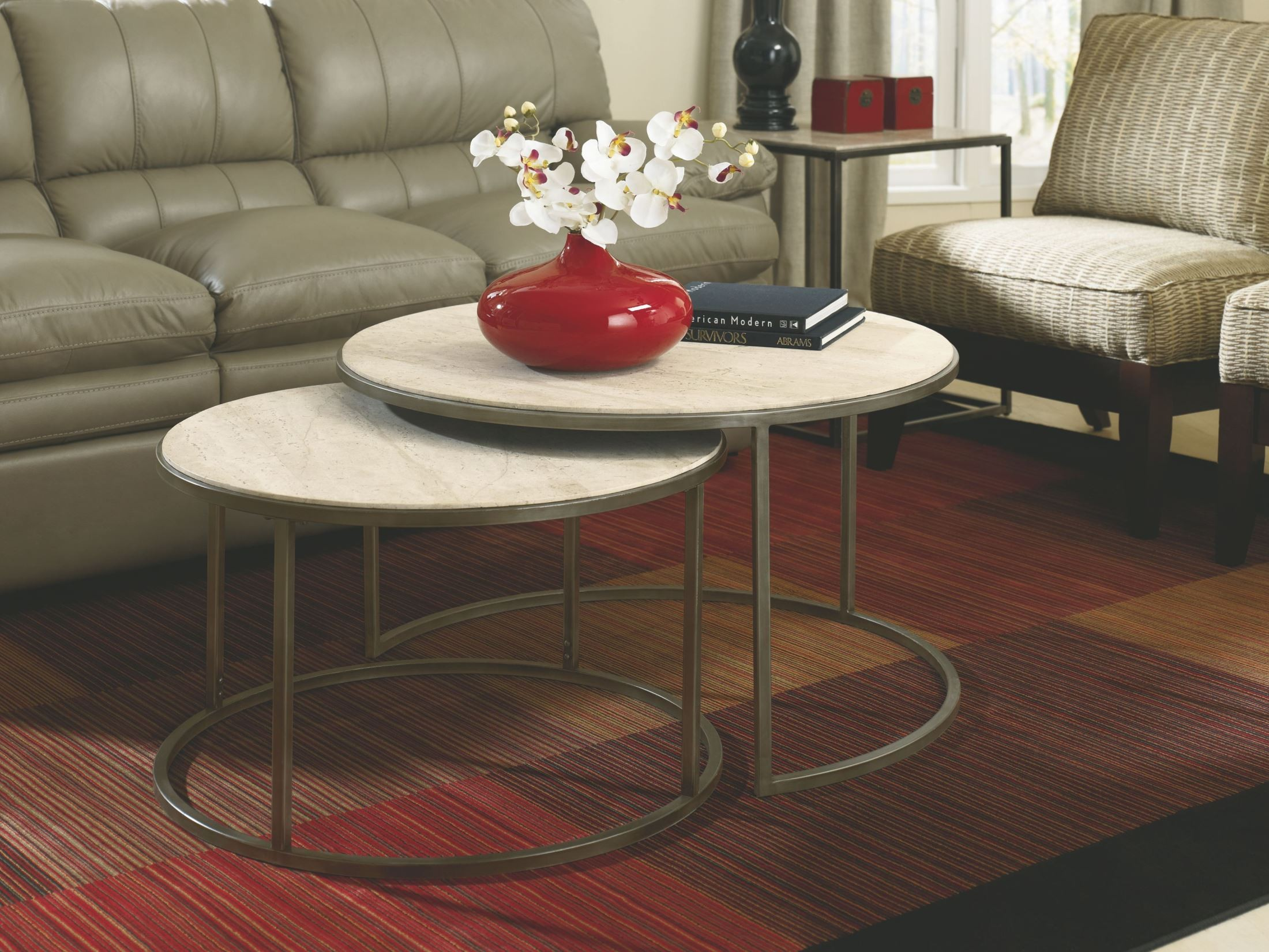 Modern Basics Round Occasional Table Set From Hammary 190
