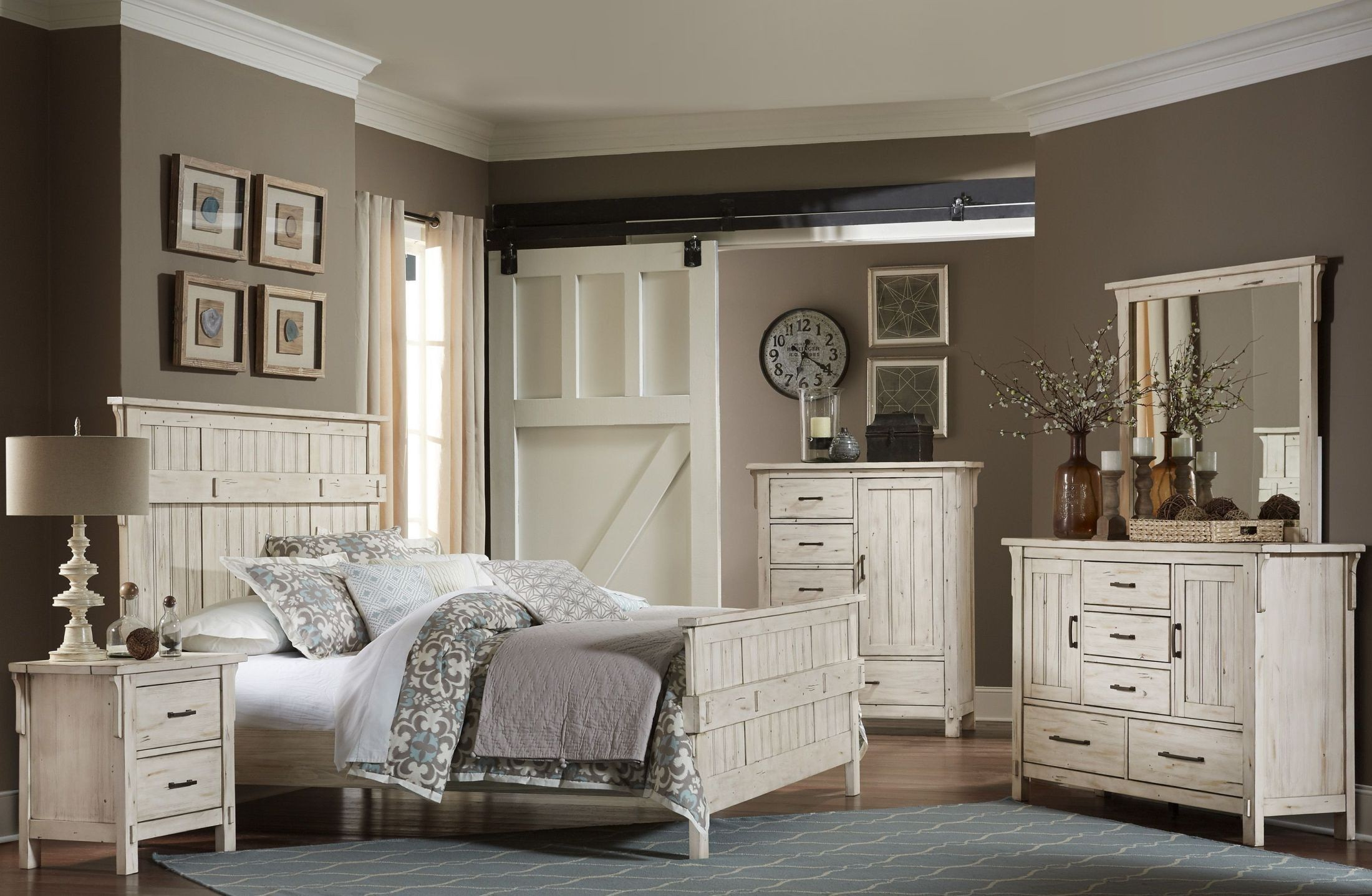 Terrace white panel bedroom set from homelegance coleman for Terrace white