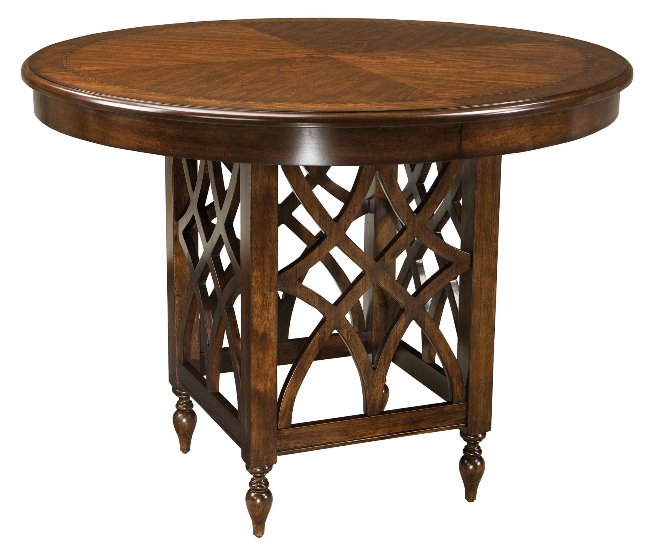 woodmont brown cherry round counter height table from standard 19196 coleman furniture. Black Bedroom Furniture Sets. Home Design Ideas