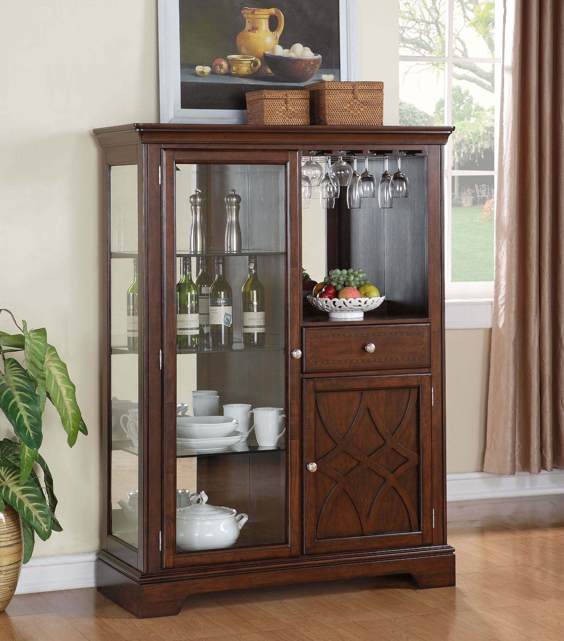 Woodmont Brown Cherry Display Server from Standard (19182 ...