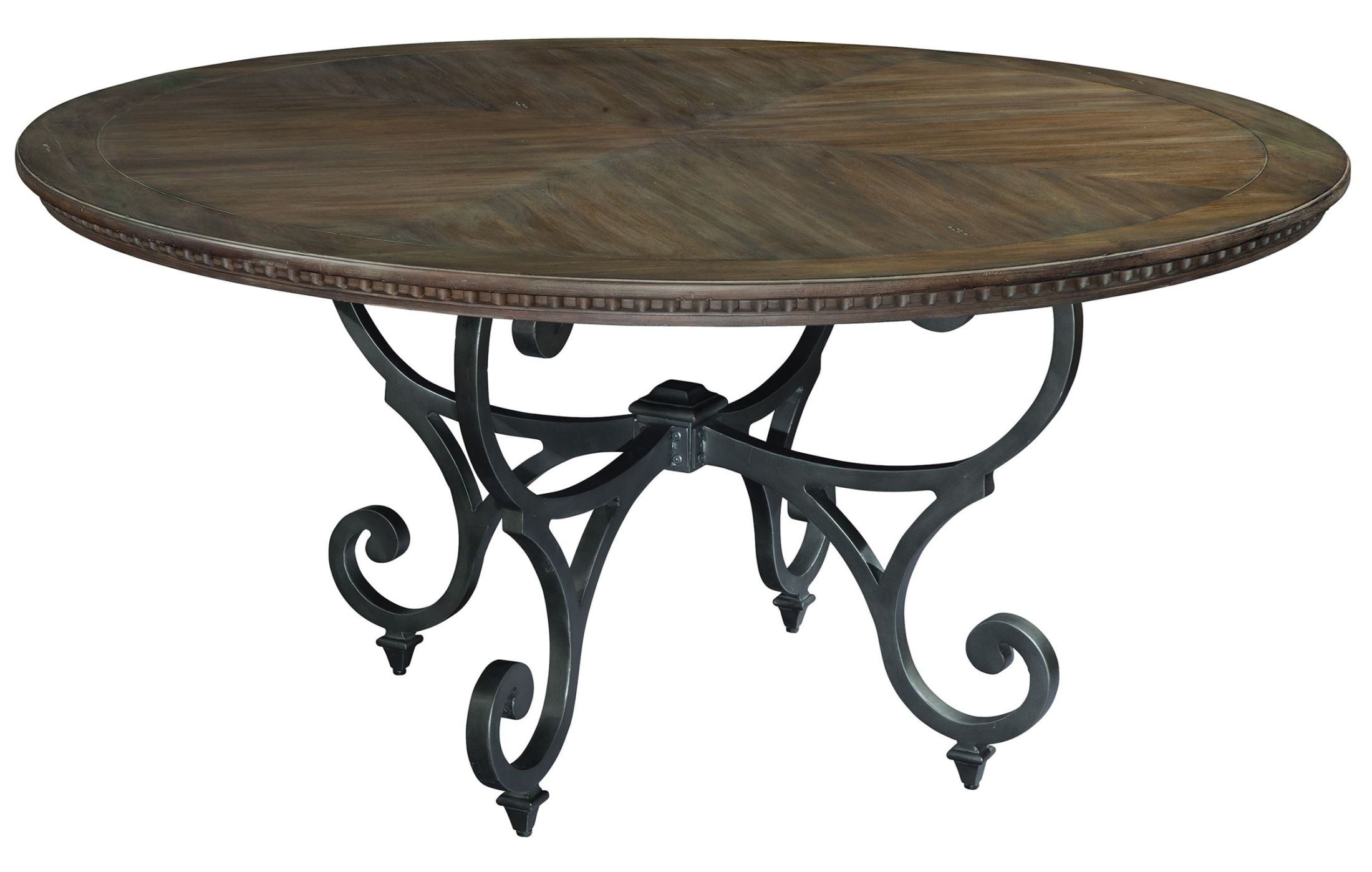 Turtle Creek Round Antique Brass Dining Table