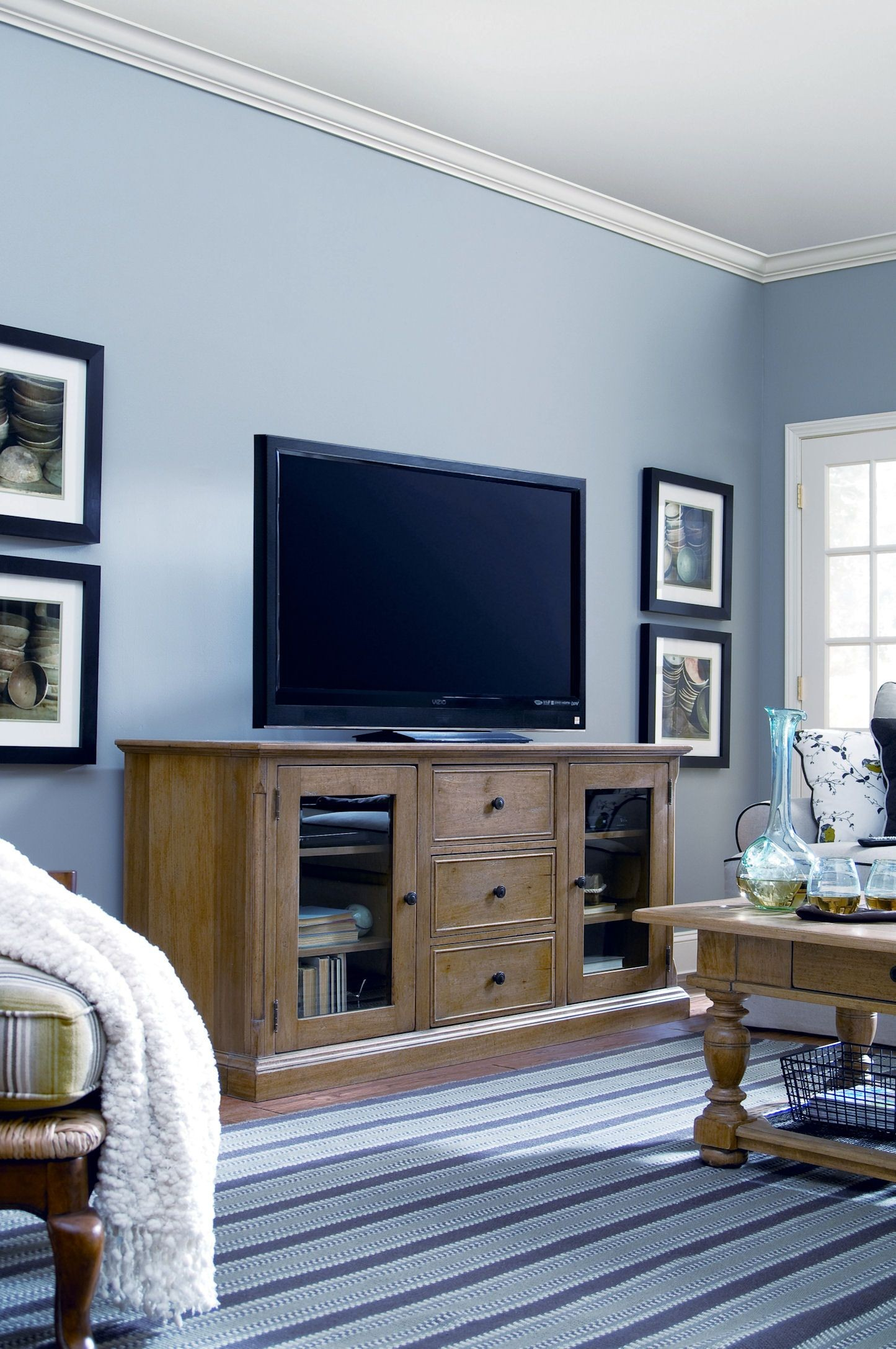 Down Home Oatmeal Entertainment Console From Paula Deen