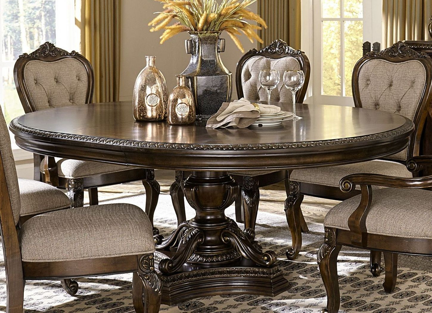 Bonaventure Park Cherry Extendable Dining Table From