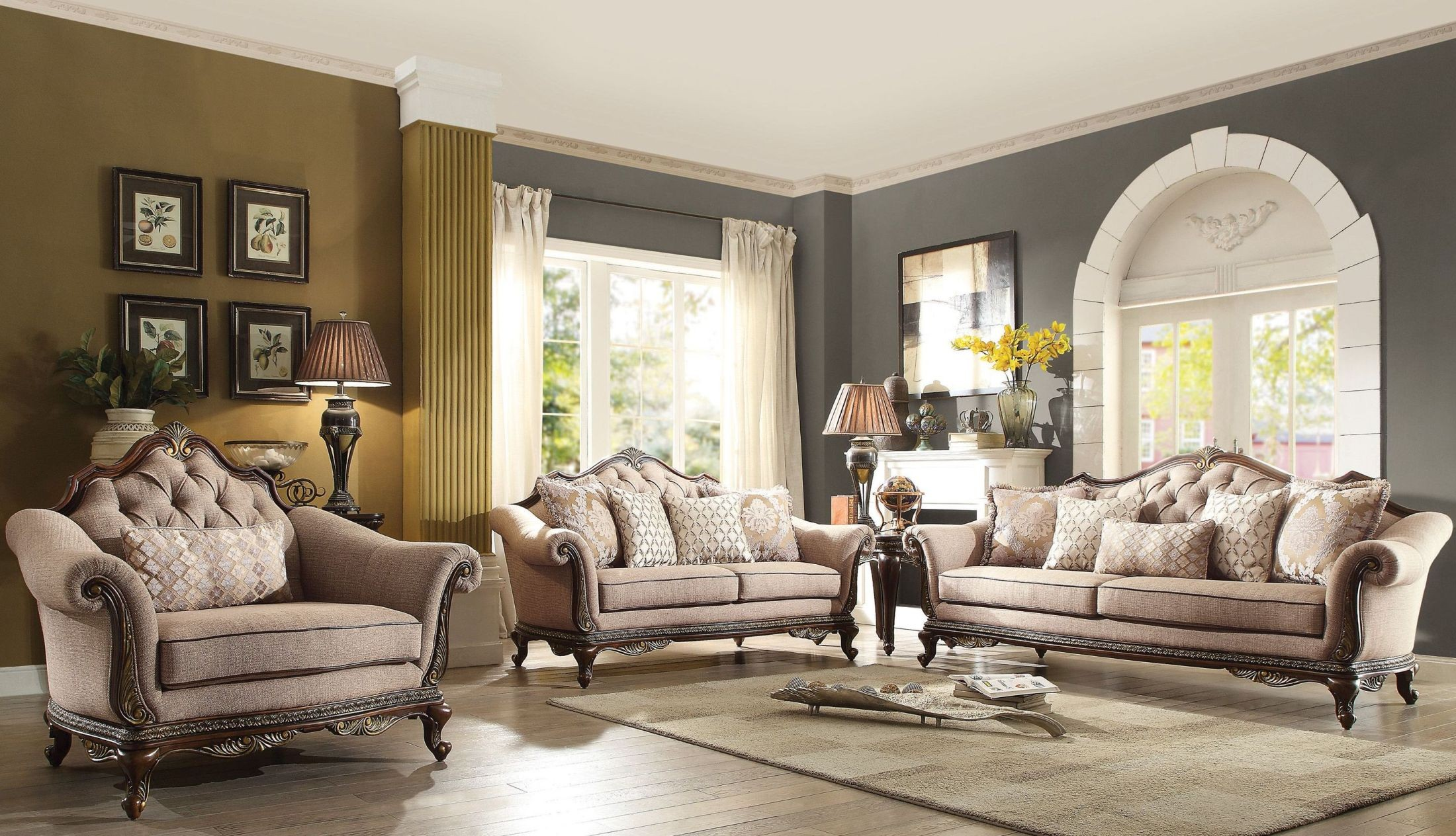 cream living room furniture sets bonaventure park living room set from homelegance 23708