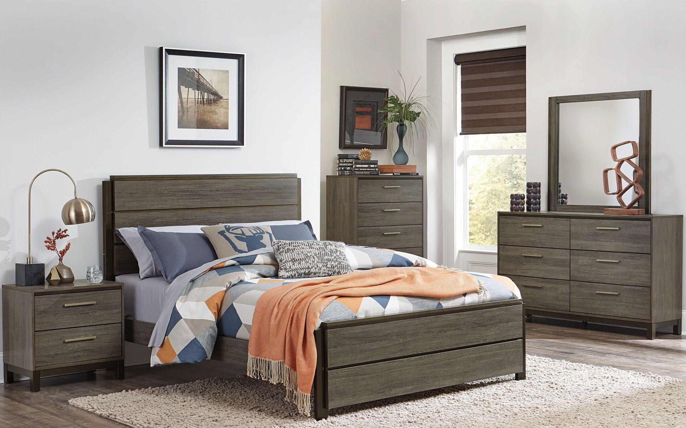 Vestavia Gray Panel Bedroom Set from Homelegance | Coleman Furniture