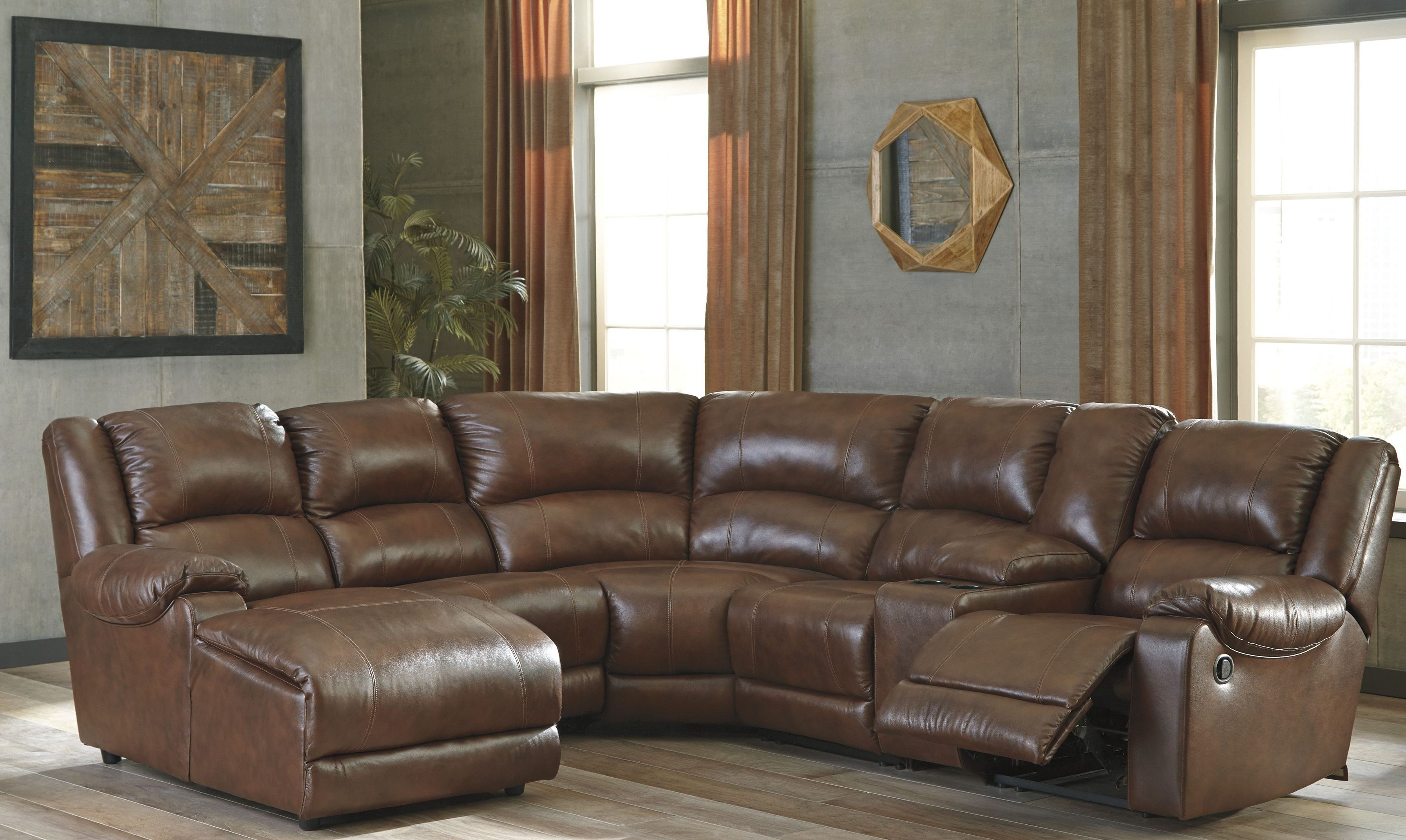 living products reclining larkspur sectional sectionals s frost piece room furniture kane leather
