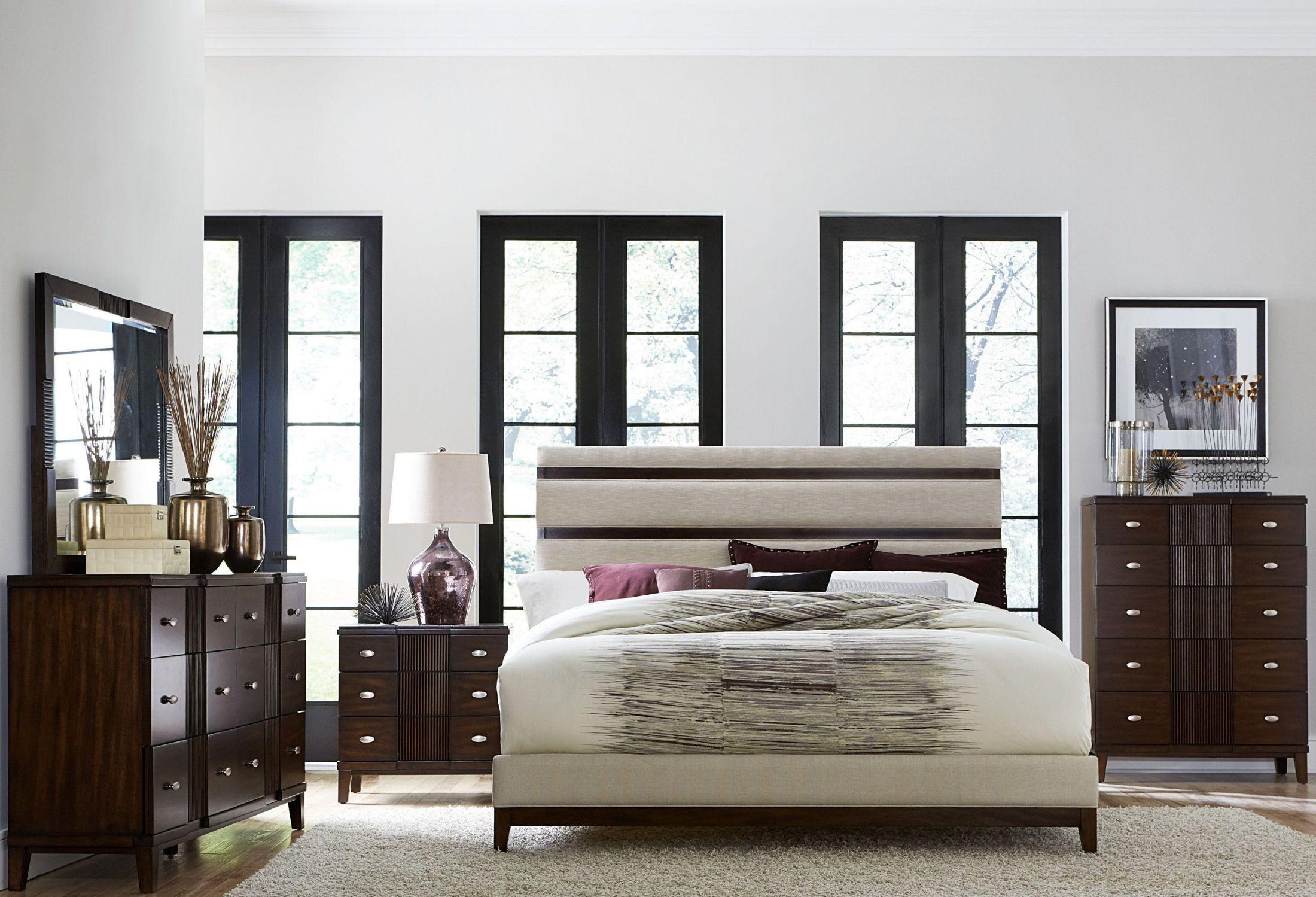 Pelmar Dark Walnut Upholstered Platform Bedroom Set From Homelegance Coleman Furniture