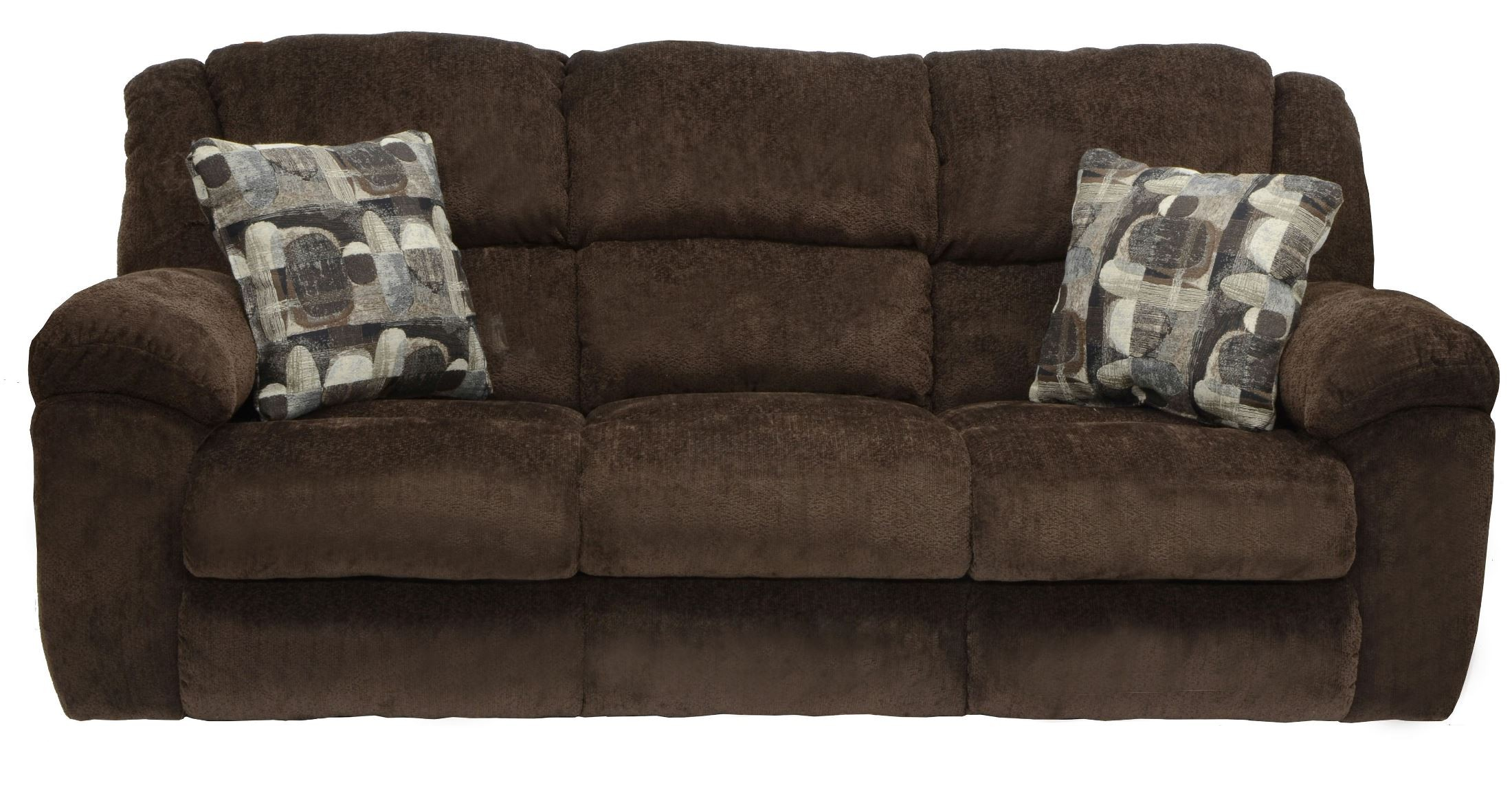 Transformer Chocolate Reclining Sofa From Catnapper