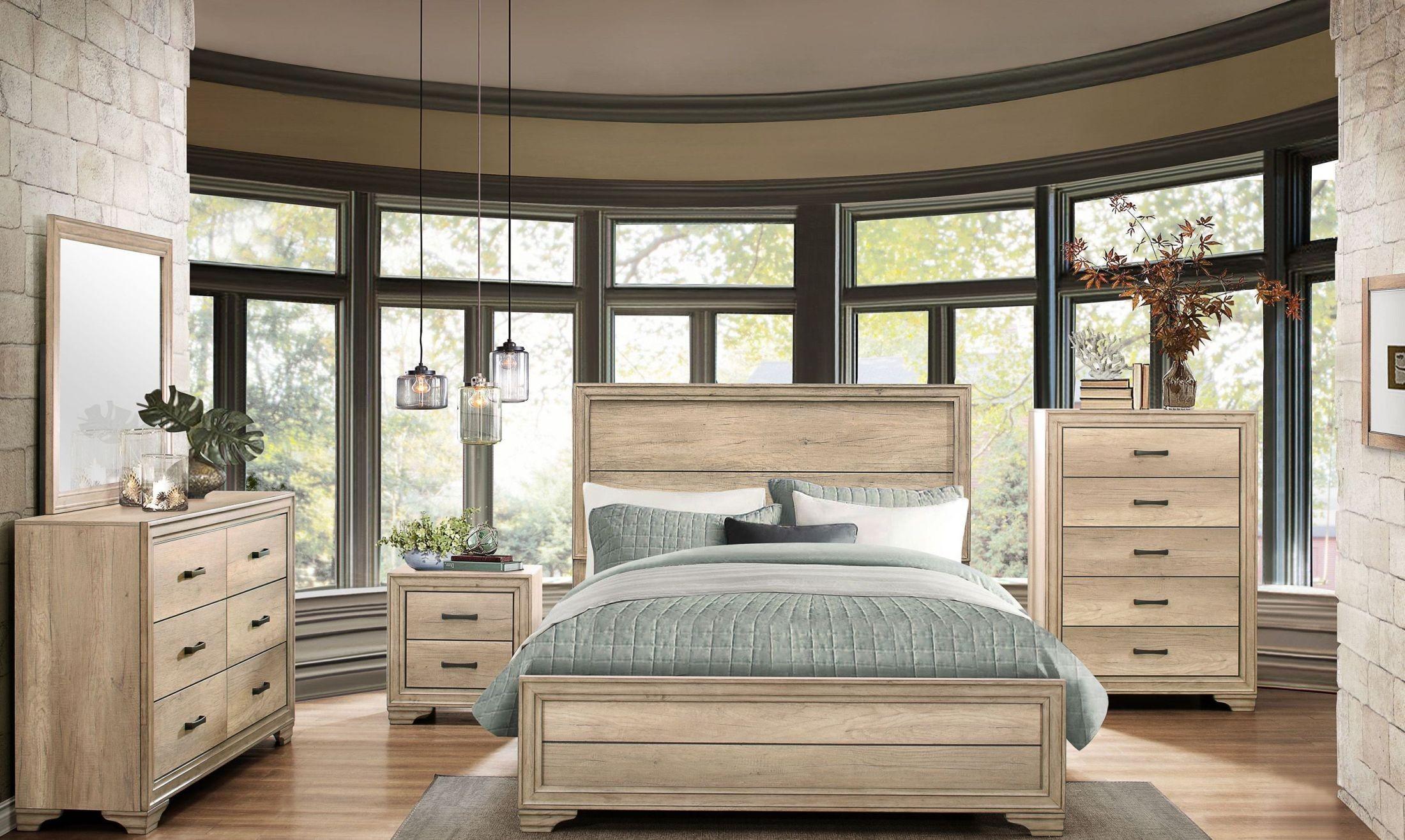 Lonan Rustic Panel Bedroom Set From Homelegance