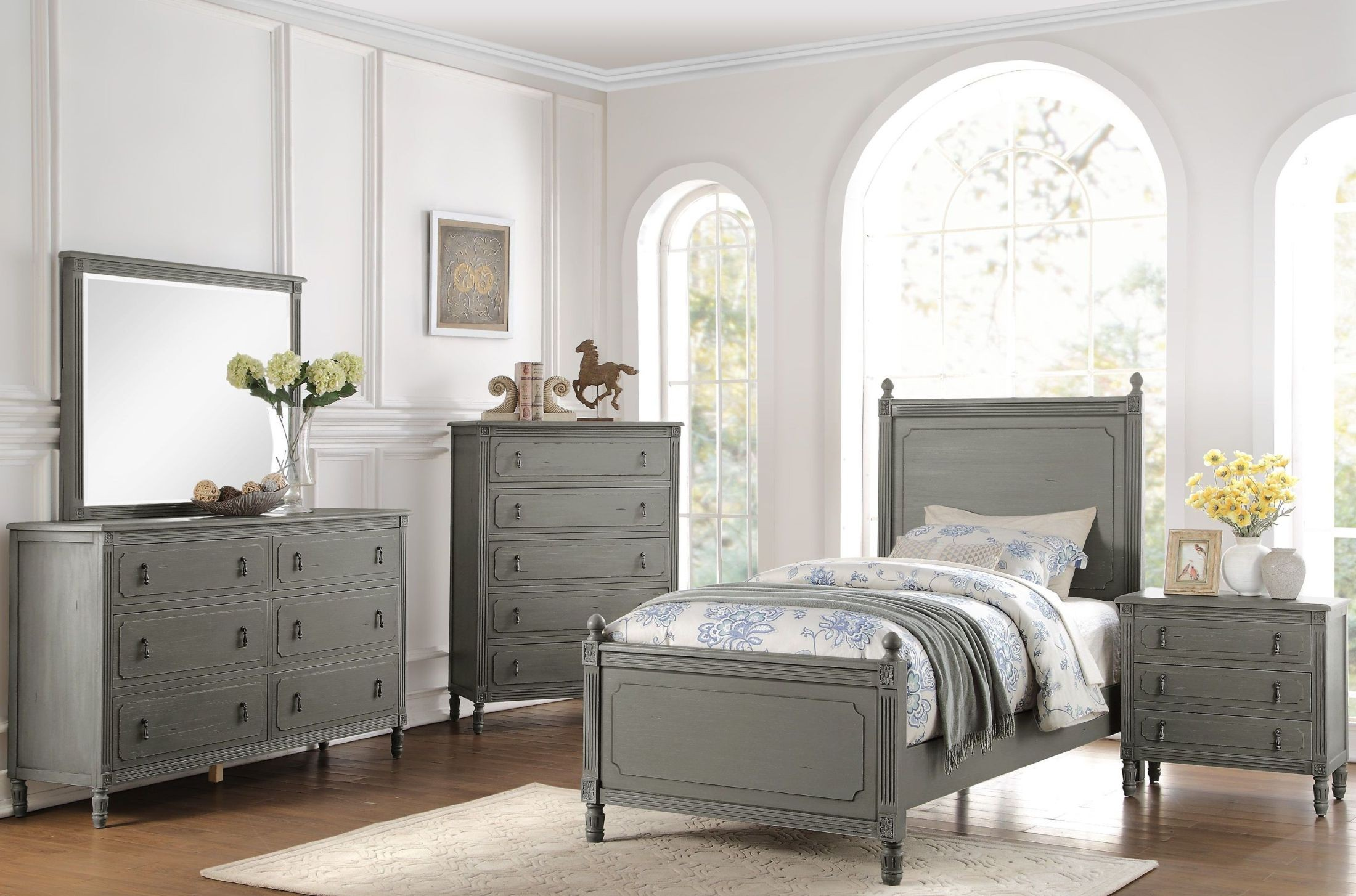 grey bedroom furniture aviana grey youth poster bedroom set from homelegance 11746