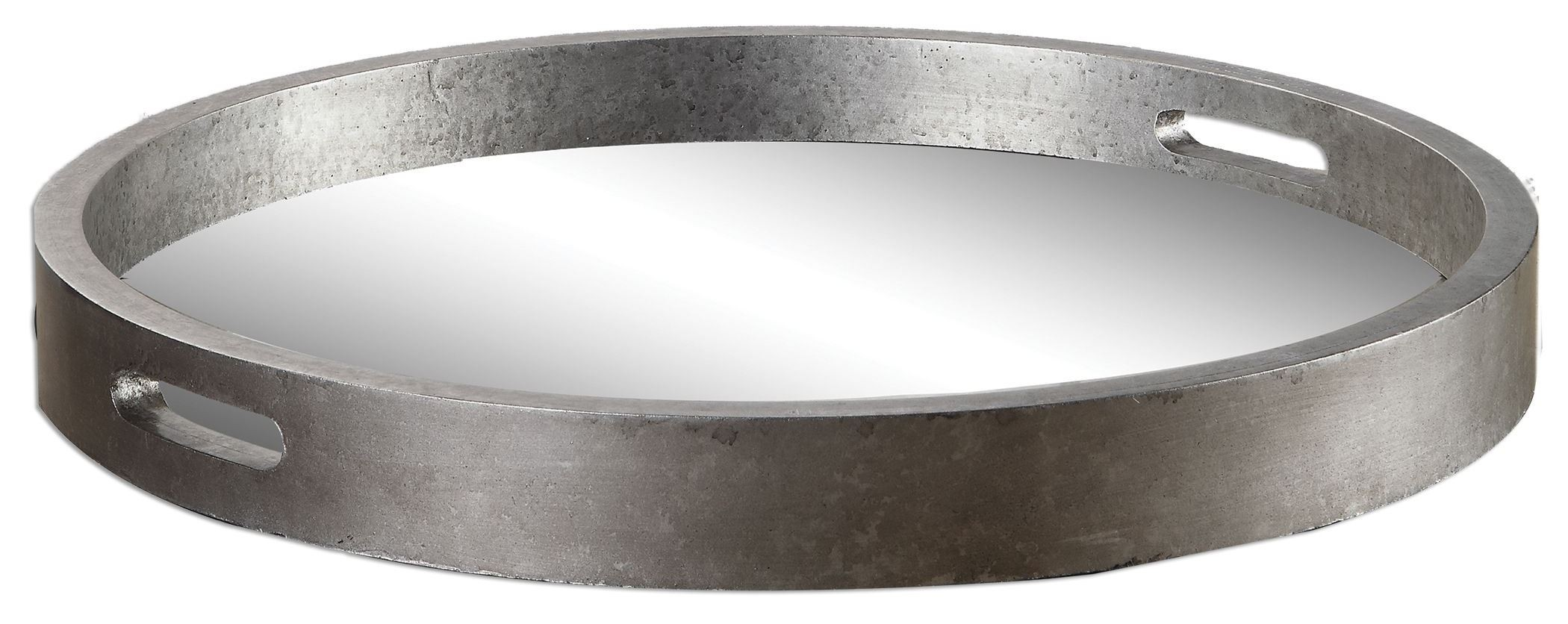 Bechet Round Silver Tray From Uttermost 19997 Coleman