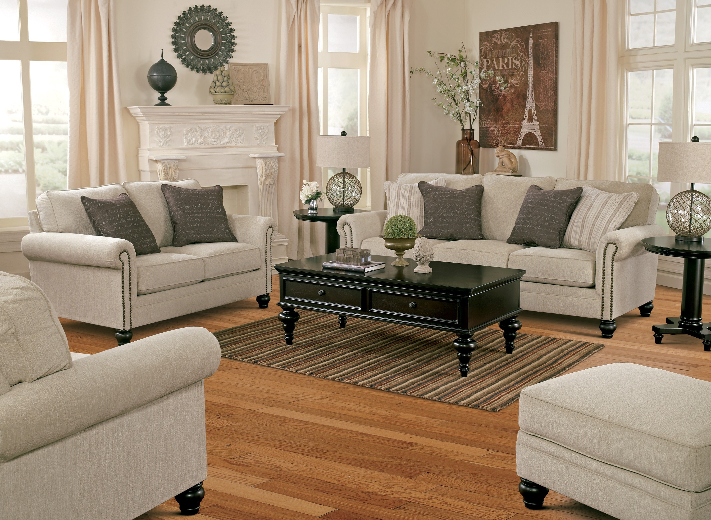 Milari Linen Living Room Set From Ashley 1300038 35