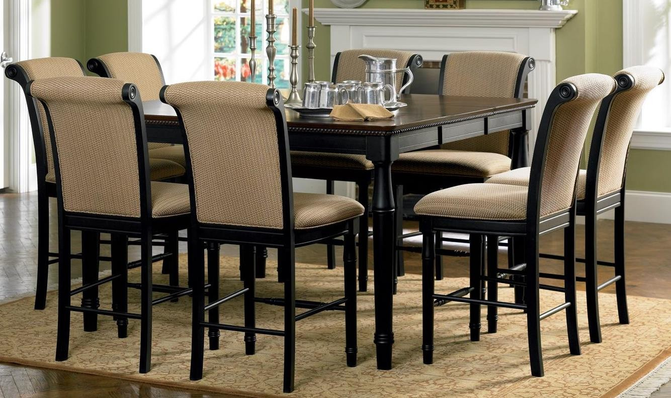 Amaretto counter height dining room set 101828 from for Counter height dining set