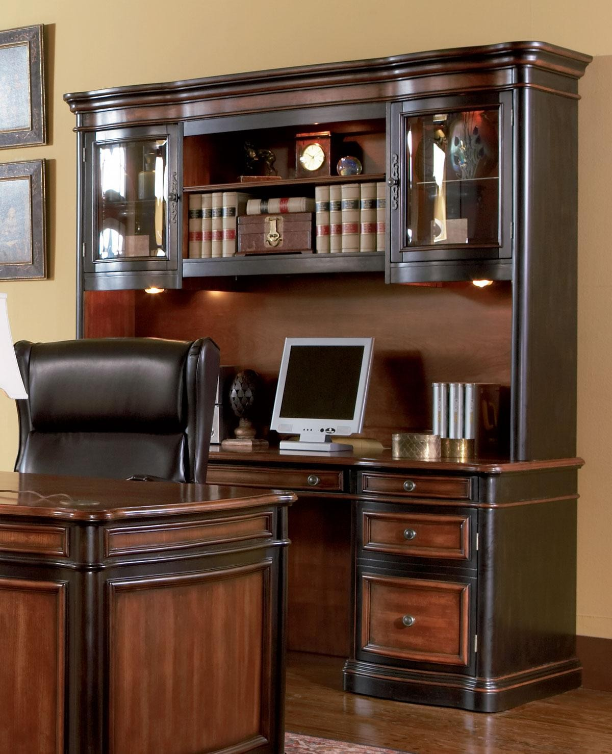 by b products computer credenza and wolf riverside office desk furniture large hutch