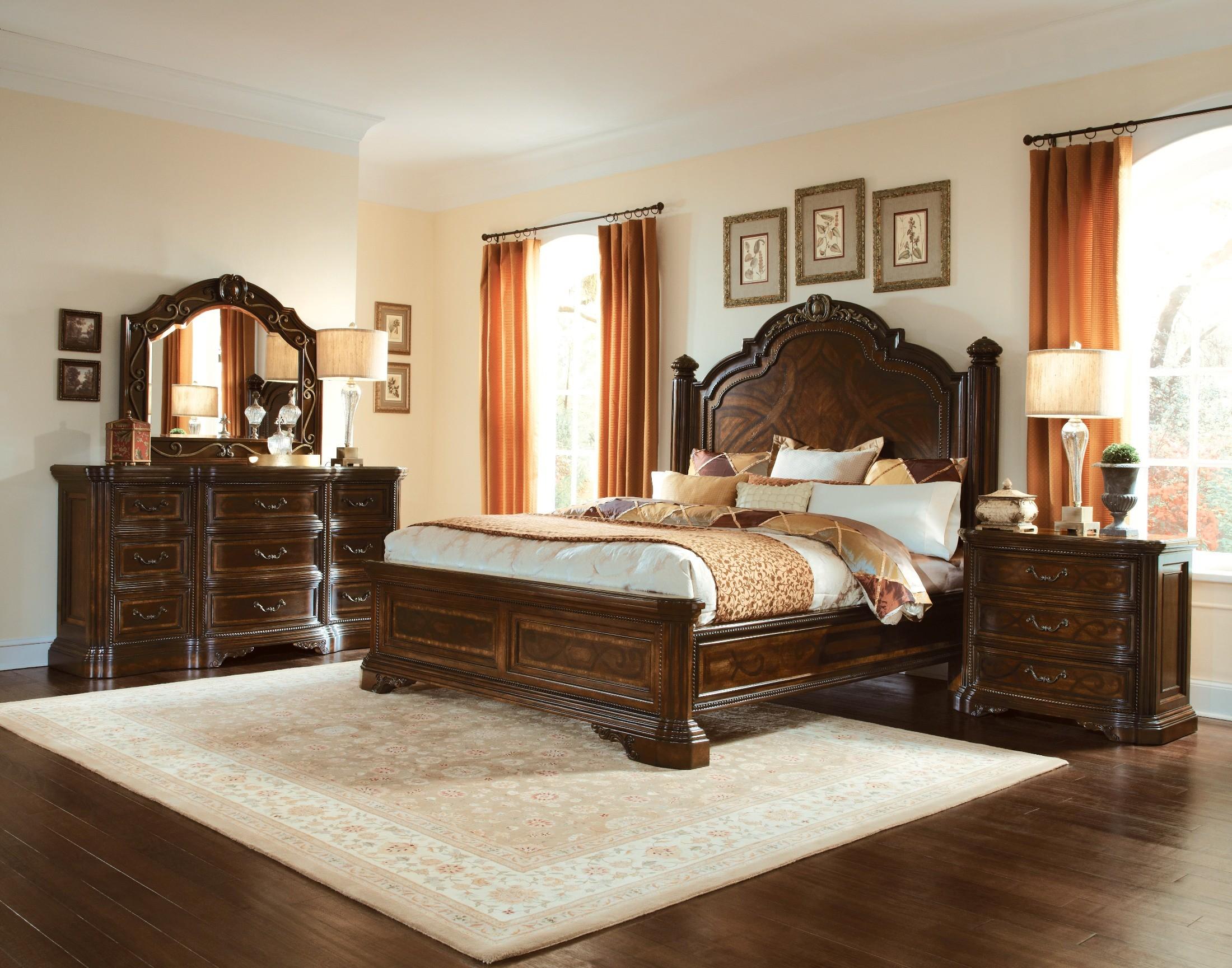 Valencia Panel Bedroom Set From Art 209125 2304 Coleman Furniture