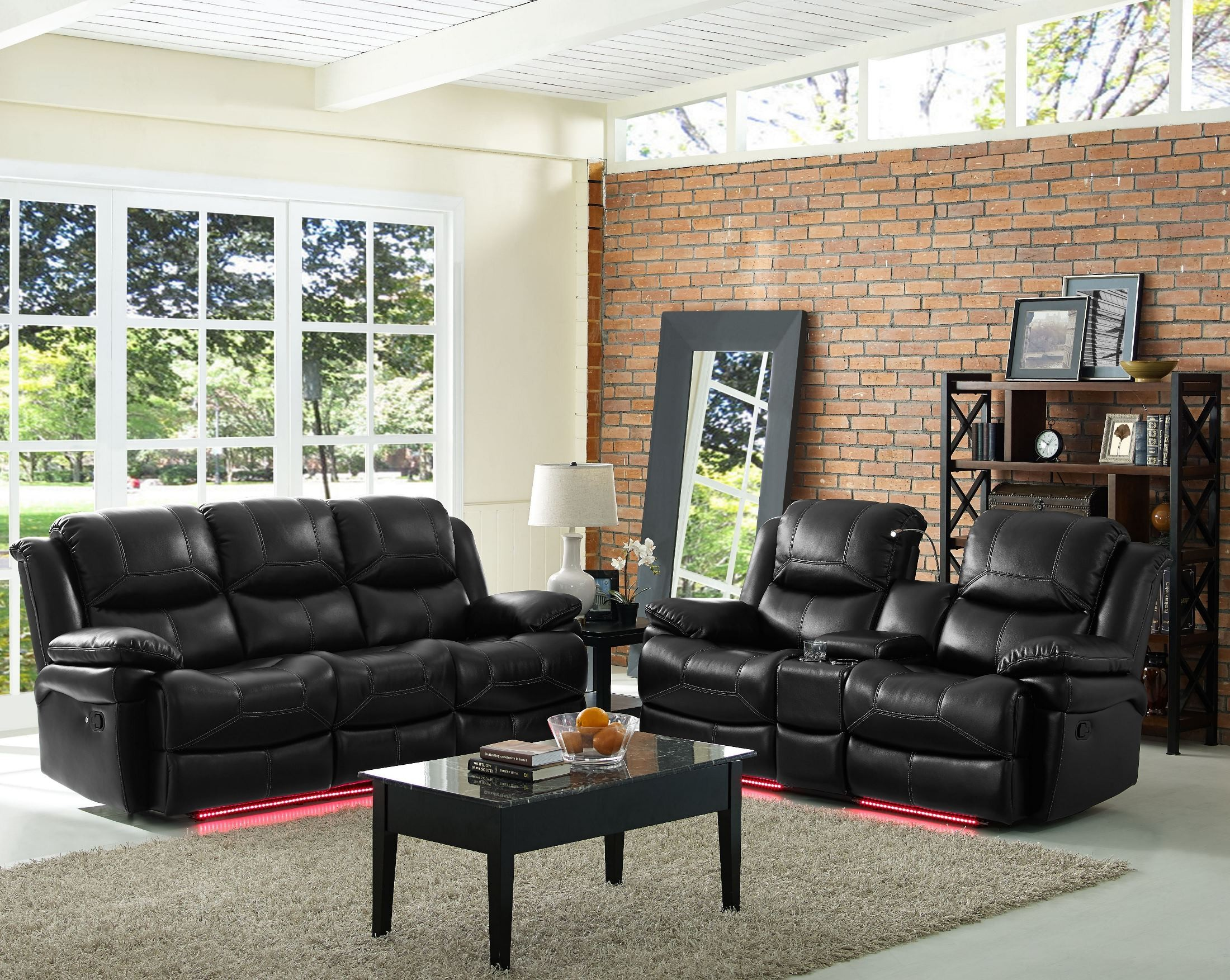 Flynn Premier Black Power Reclining Living Room Set From New Classic Coleman Furniture