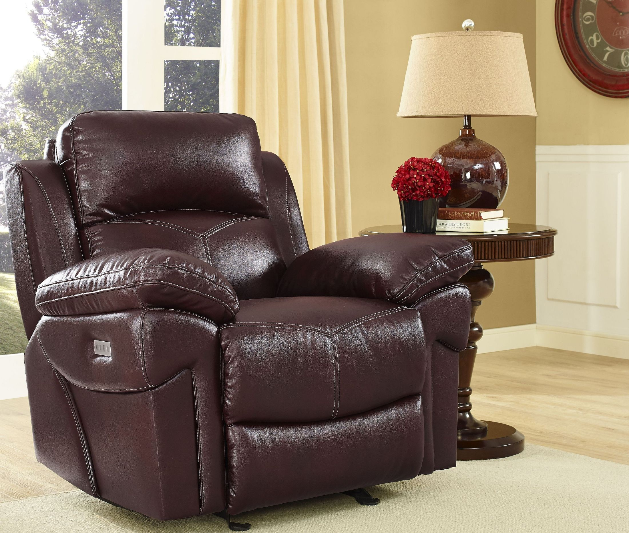 Warner Wine Power Glider Recliner from New Classic