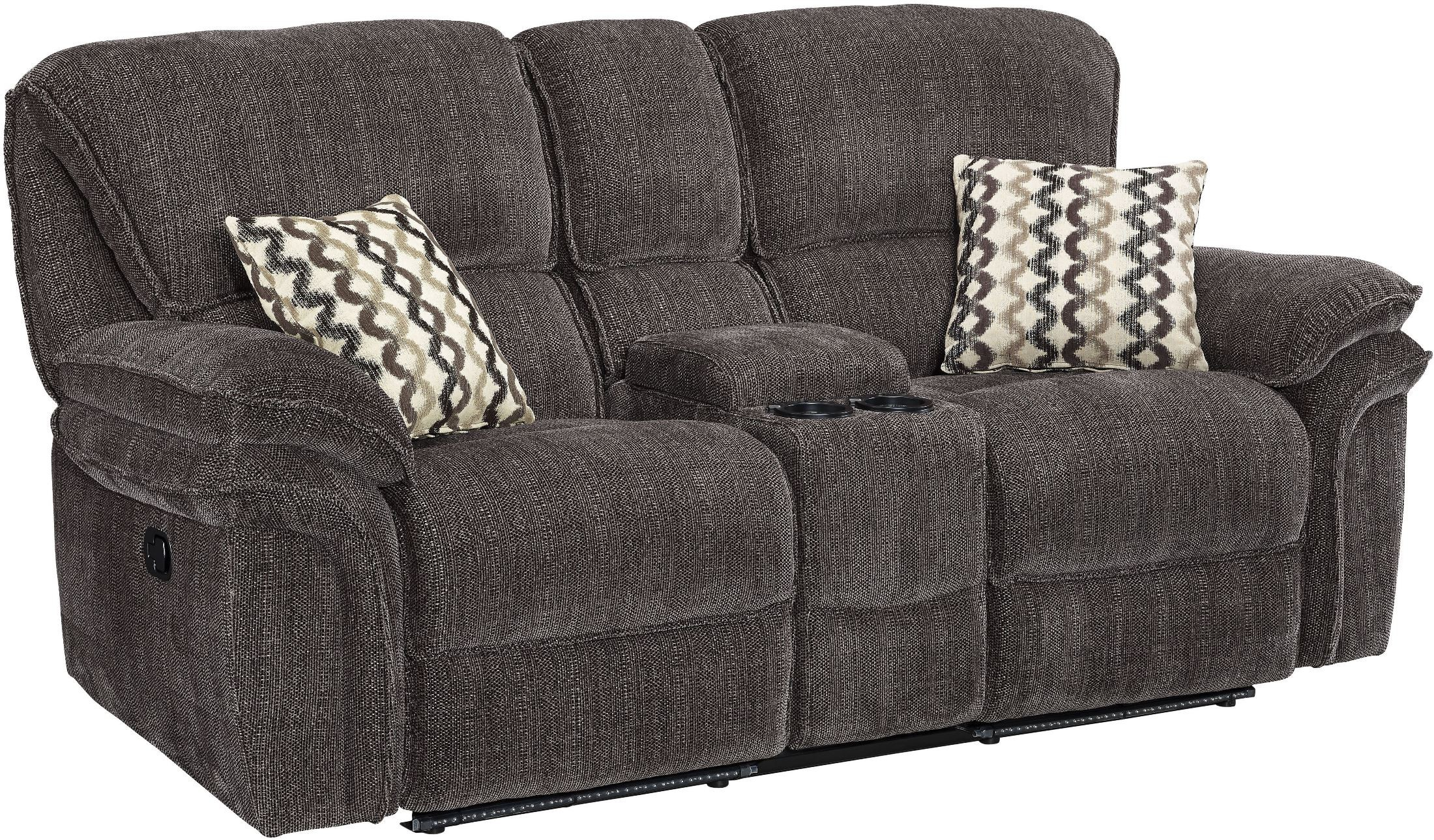 Lightning Zachary Shadow Dual Reclining Console Loveseat