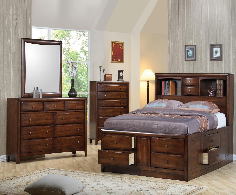 hillary walnut king storage bed from coaster 200609ke coleman furniture. Black Bedroom Furniture Sets. Home Design Ideas