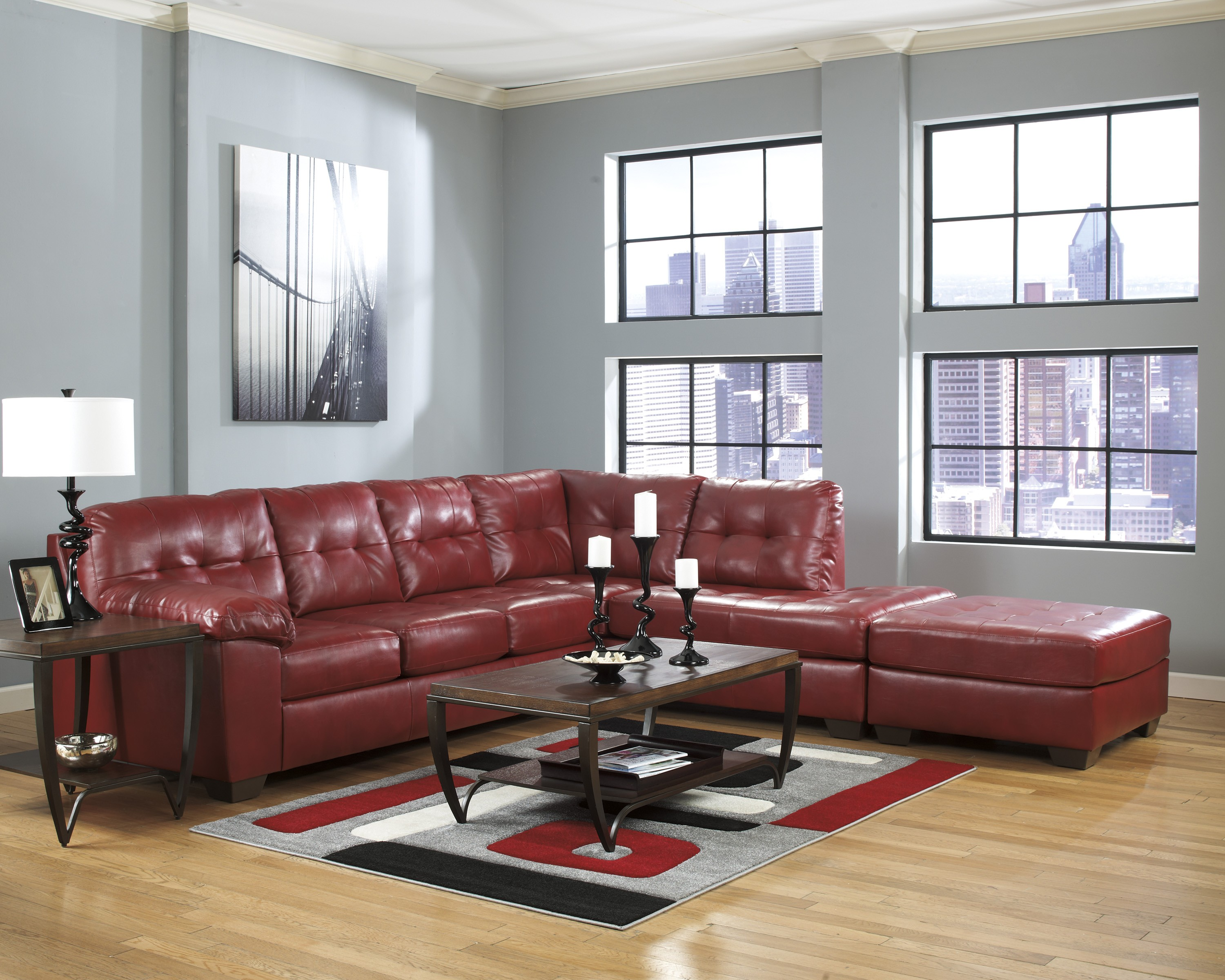 Alliston DuraBlend Salsa Right Arm Facing Sectional from Ashley
