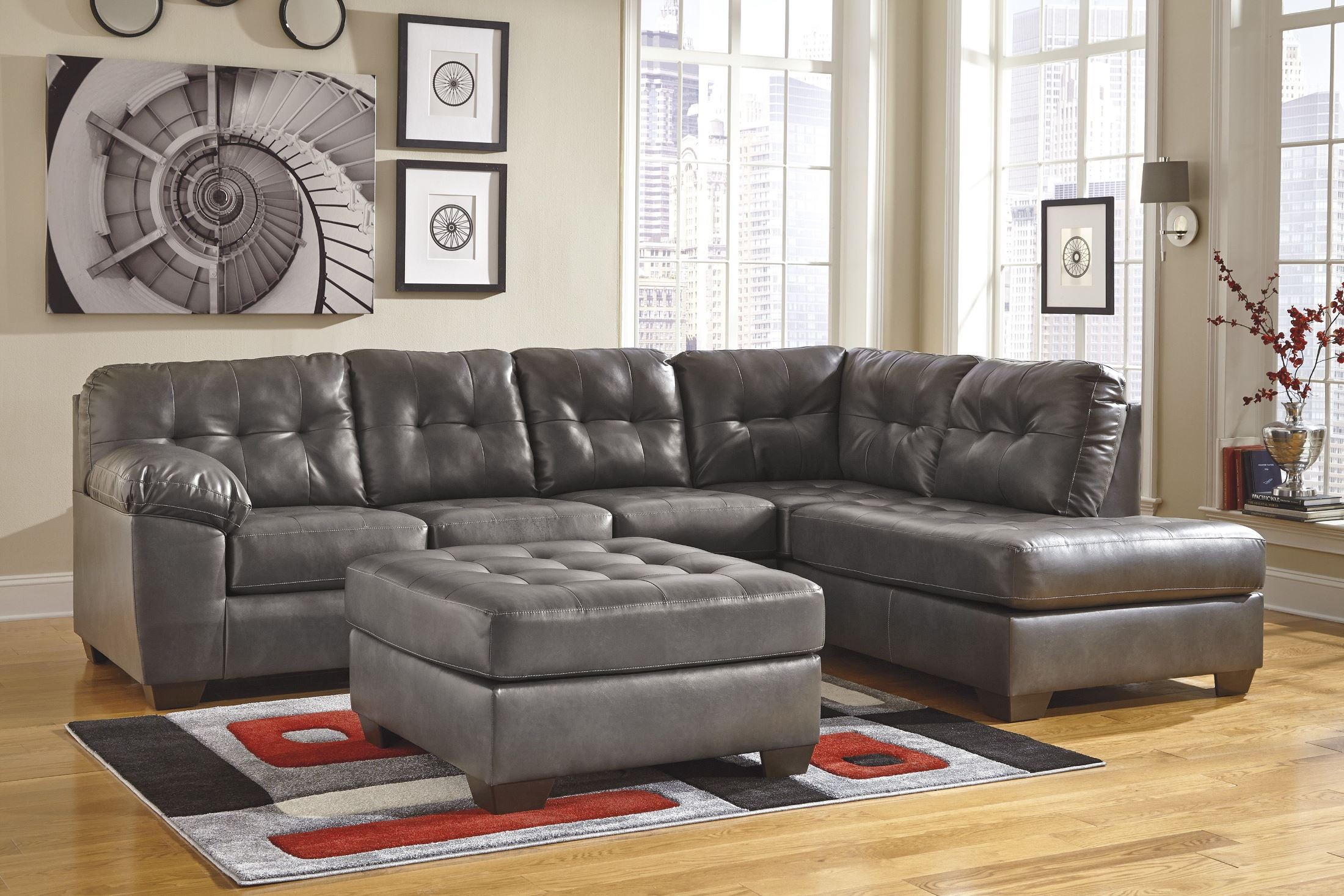 Alliston Durablend Gray Raf Sectional From Ashley 20102