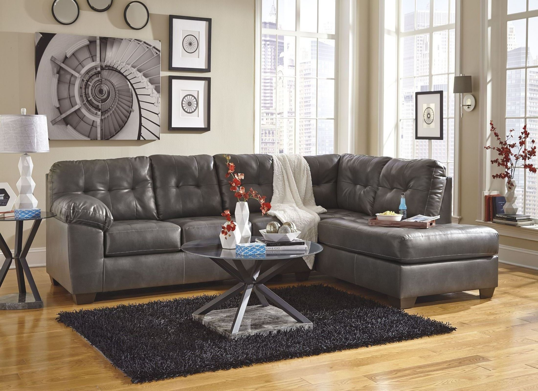 Alliston DuraBlend Gray RAF Sectional from Ashley 17 66