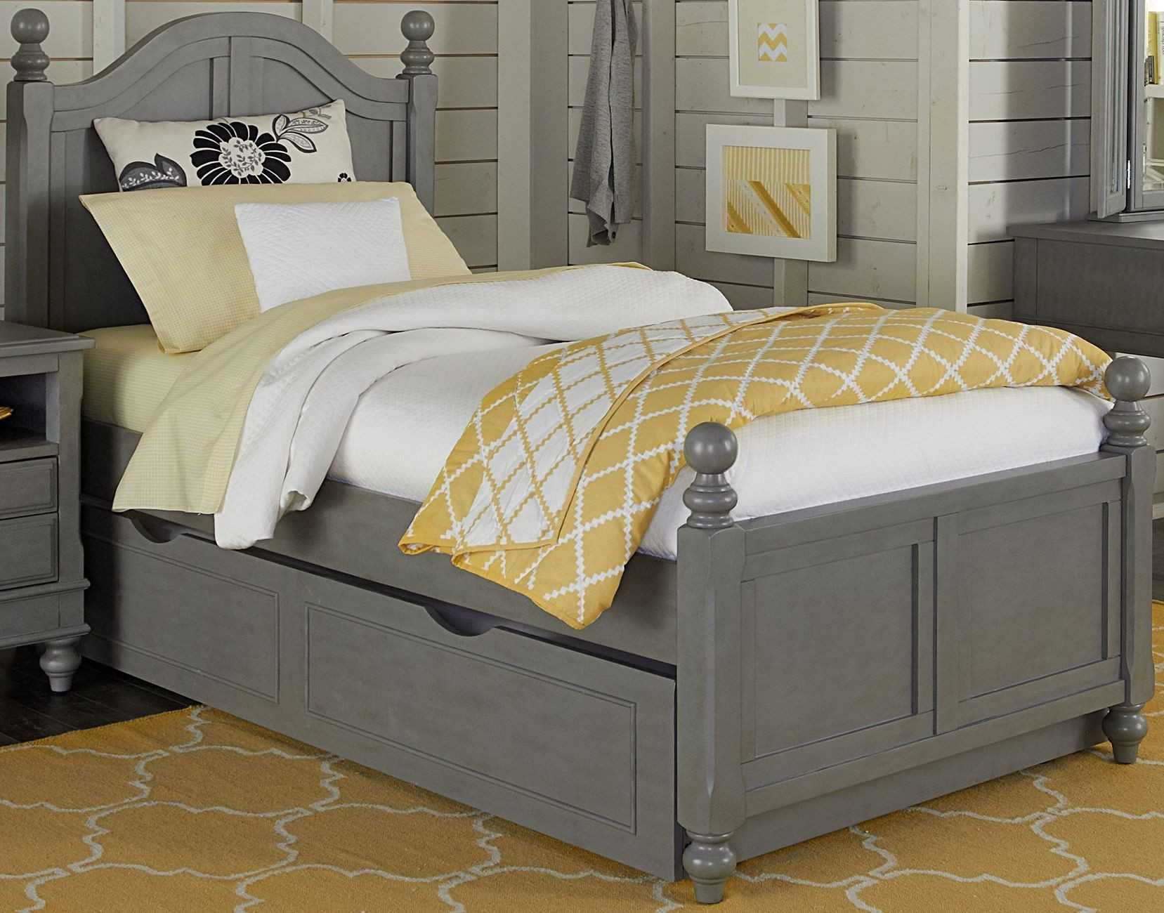 Lake house stone payton youth panel bedroom set with trundle from ne kids coleman furniture Lake home bedroom furniture