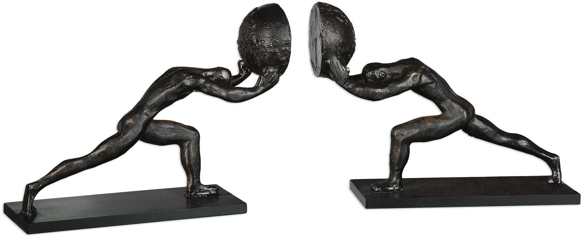 Weight Of The World Figurine Black Bookends From Uttermost