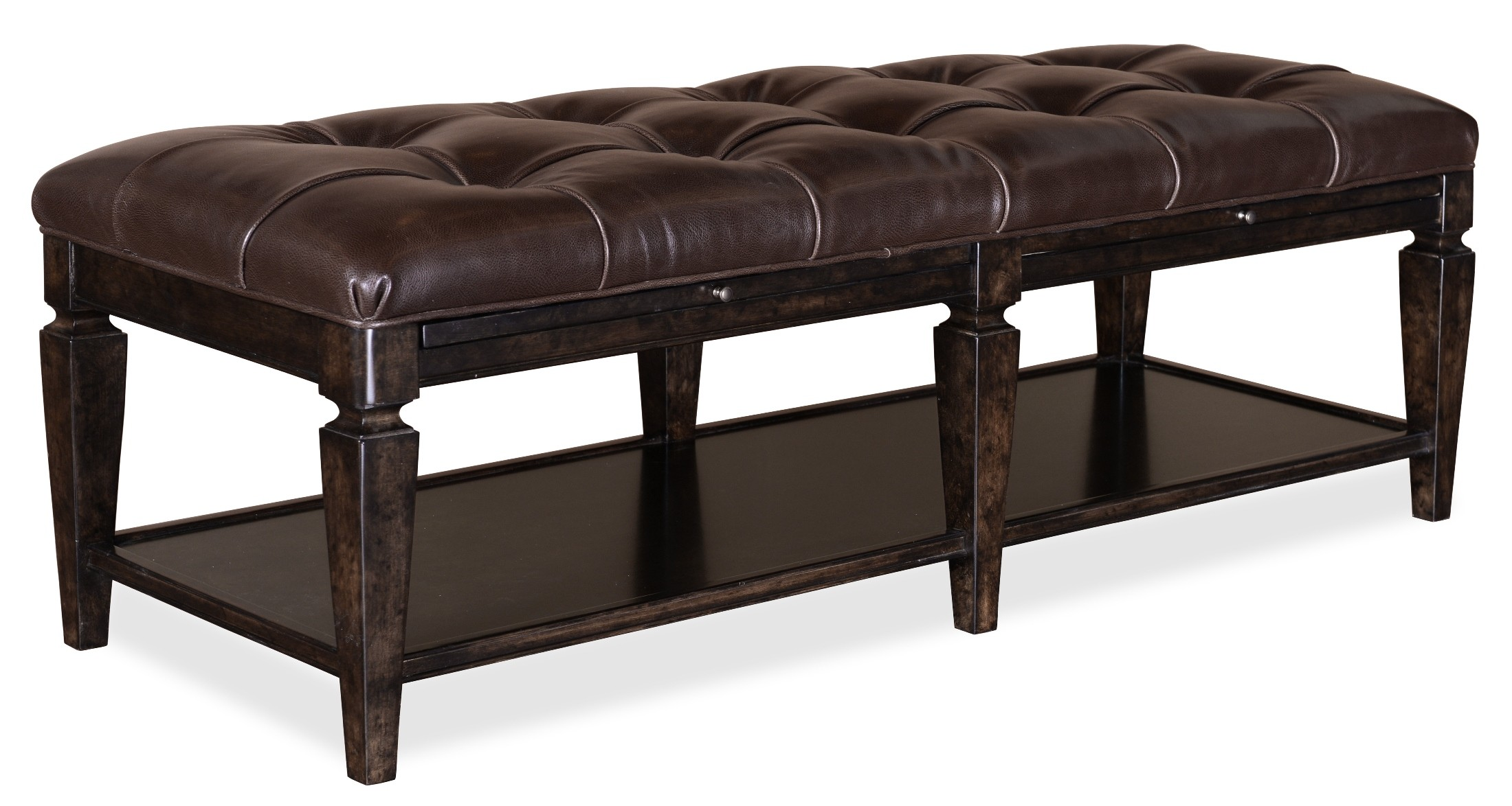 Classic Tufted Leather Bench From Art 202149 1715 Coleman Furniture