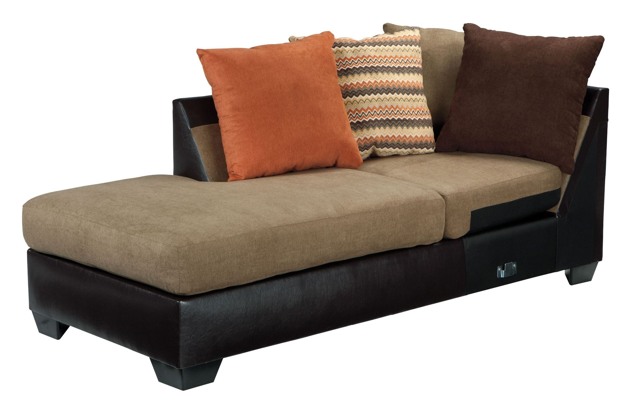 Armant mocha laf sectional from ashley 20202 16 67 for Ashley mocha sectional with chaise