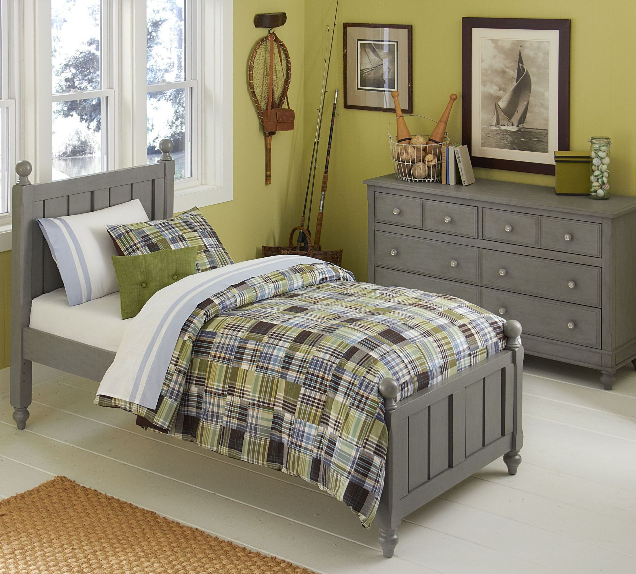 Lake house stone kennedy youth panel bedroom set from ne kids coleman furniture Lake home bedroom furniture