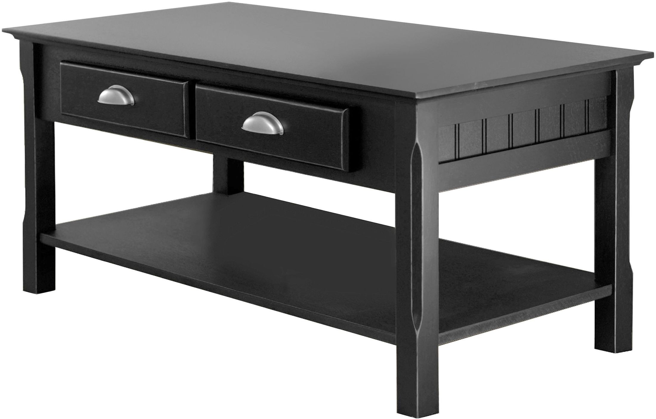 Timber Black 2 Drawer Coffee Table From Winsomewood Coleman Furniture