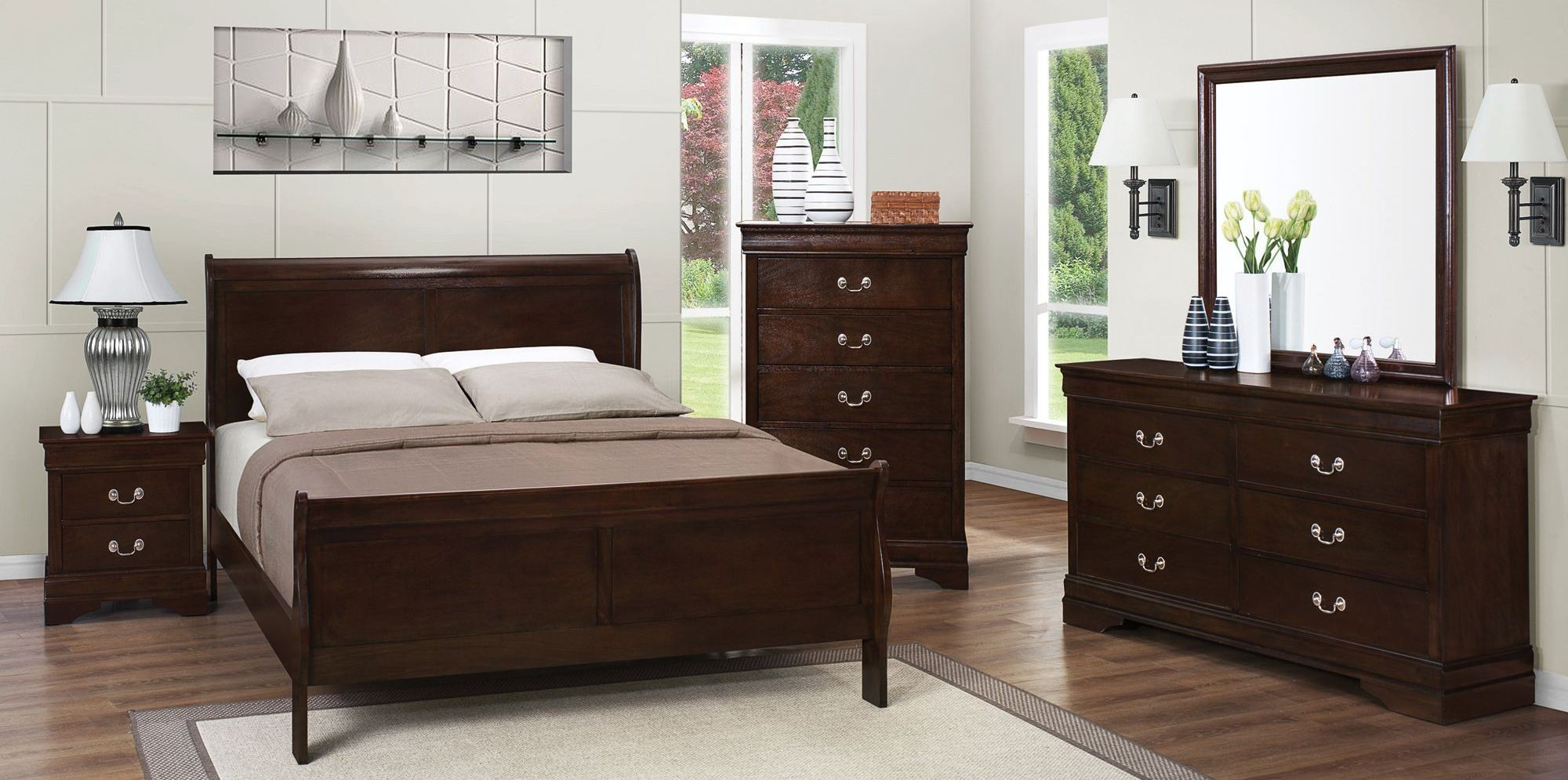 Louis Philippe Rich Cappuccino Youth Sleigh Bedroom Set From Coaster 202411t Coleman Furniture