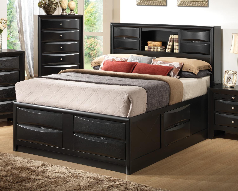 Briana Black King Storage Bed From Coaster (202701KE)   Coleman Furniture