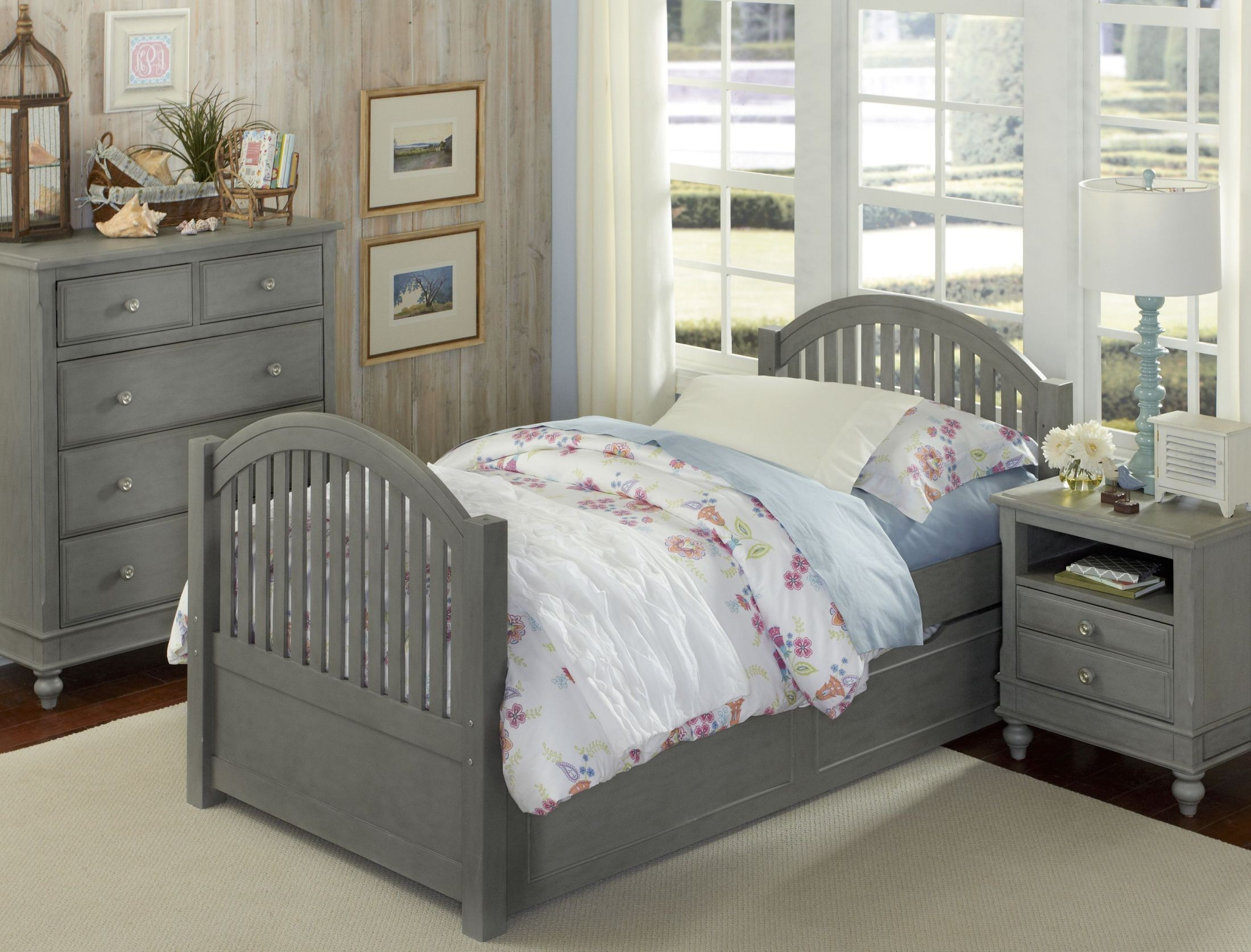 Lake house stone adrian youth panel bedroom set with trundle from ne kids coleman furniture Lake home bedroom furniture